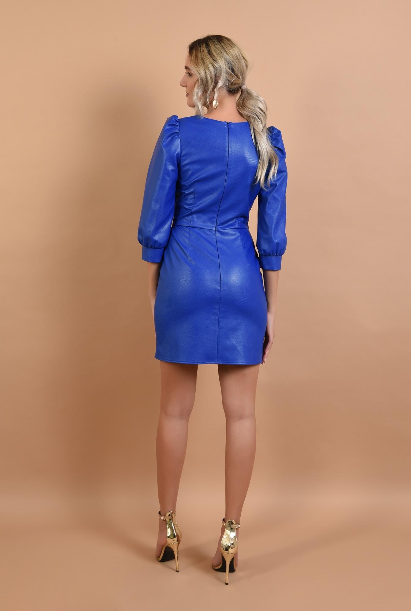 1 - rochie eleganta, scurta, cambrata, piele eco, Poema