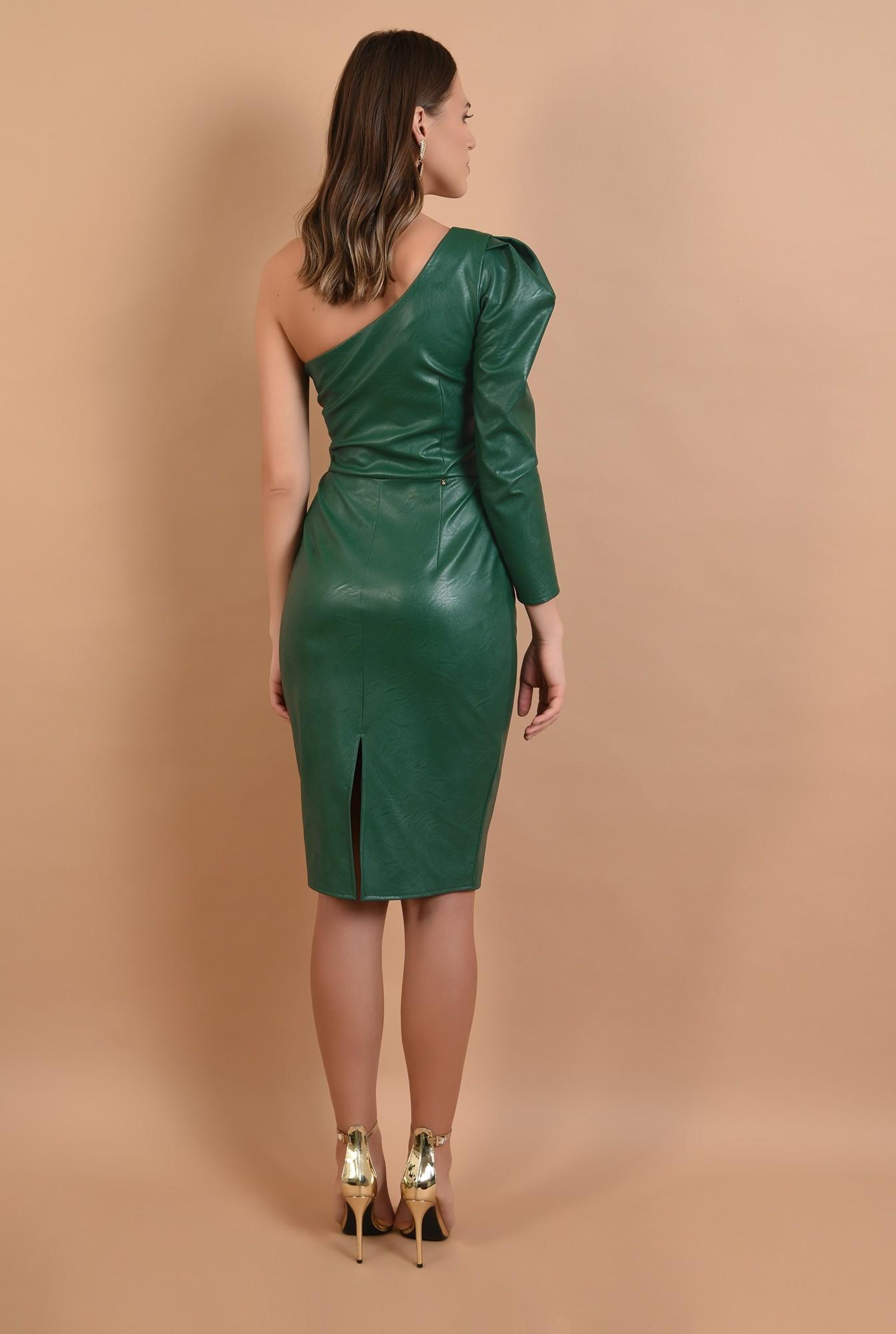 1 - 360 - rochie midi, conica, umar gol, piele ecologica