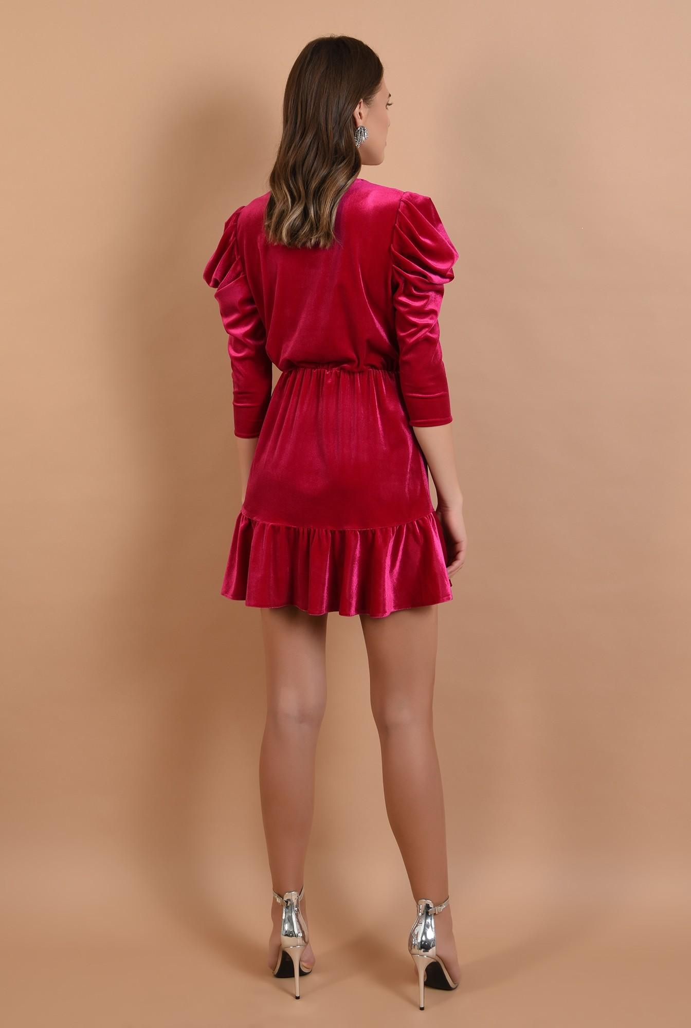 1 - 360 - rochie eleganta, din catifea, petrecuta, cu volan