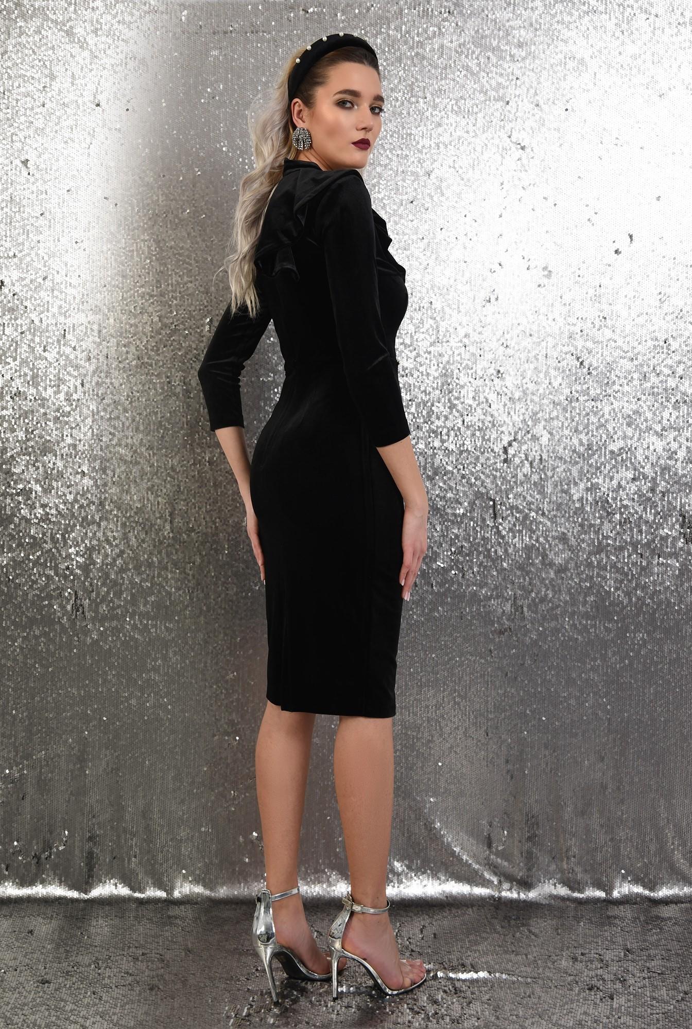 1 - rochie eleganta,  midi, conica, cu volan evantai, Poema