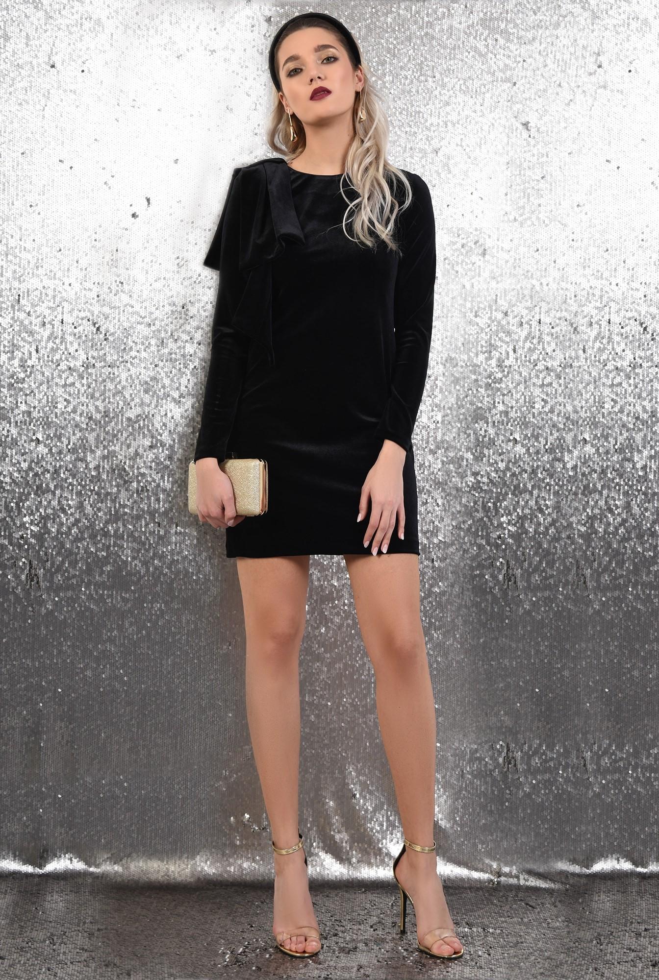 3 -  rochie neagra, scurta, eleganta, din catifea, Poema