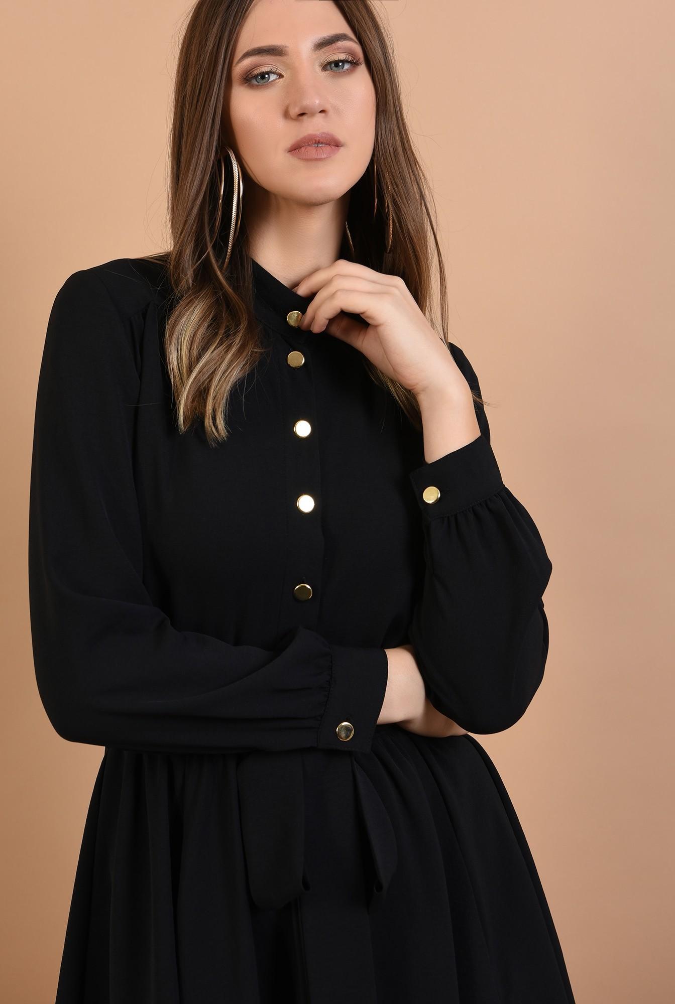 2 - rochie neagra, scurta, cu nasturi, cordon, Poema