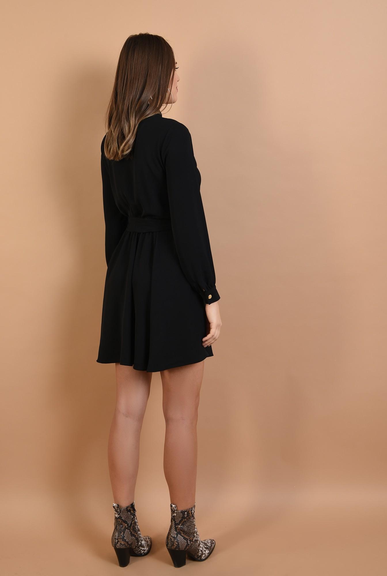 1 - rochie neagra, scurta, cu nasturi, cordon, Poema