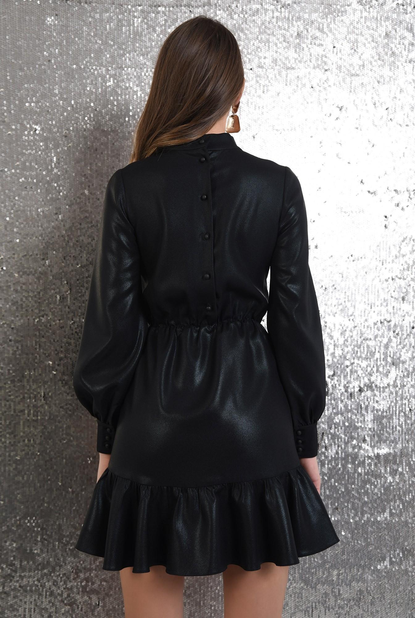 1 - rochie neagra, de ocazie, croi petrecut, nasturi la spate, Poema