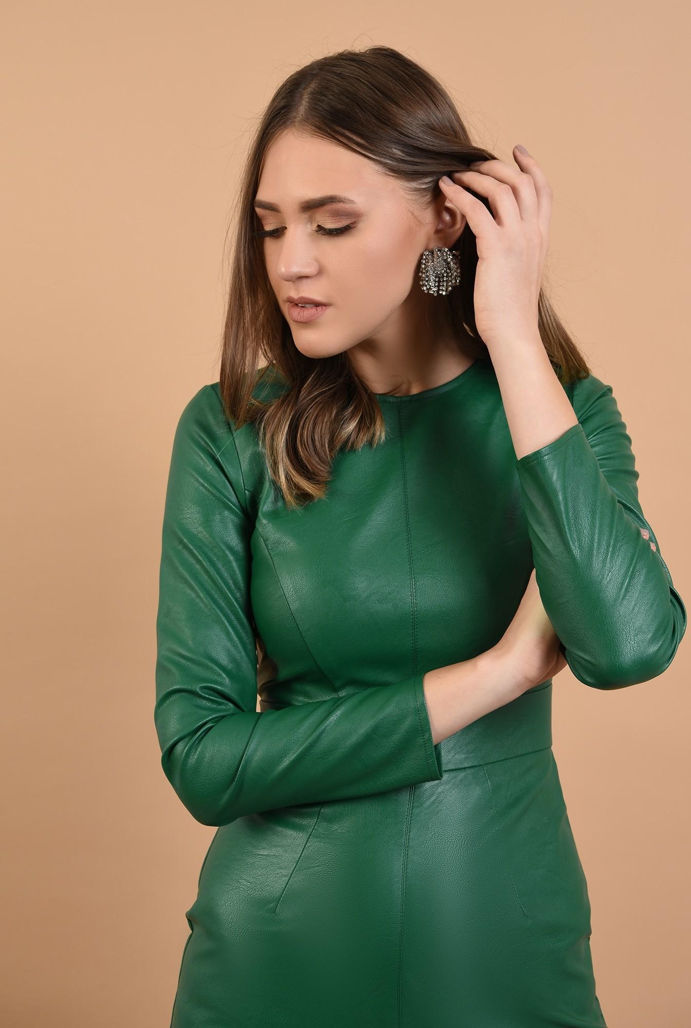 2 -  rochie eleganta, din piele, mini, cambrata, Poema