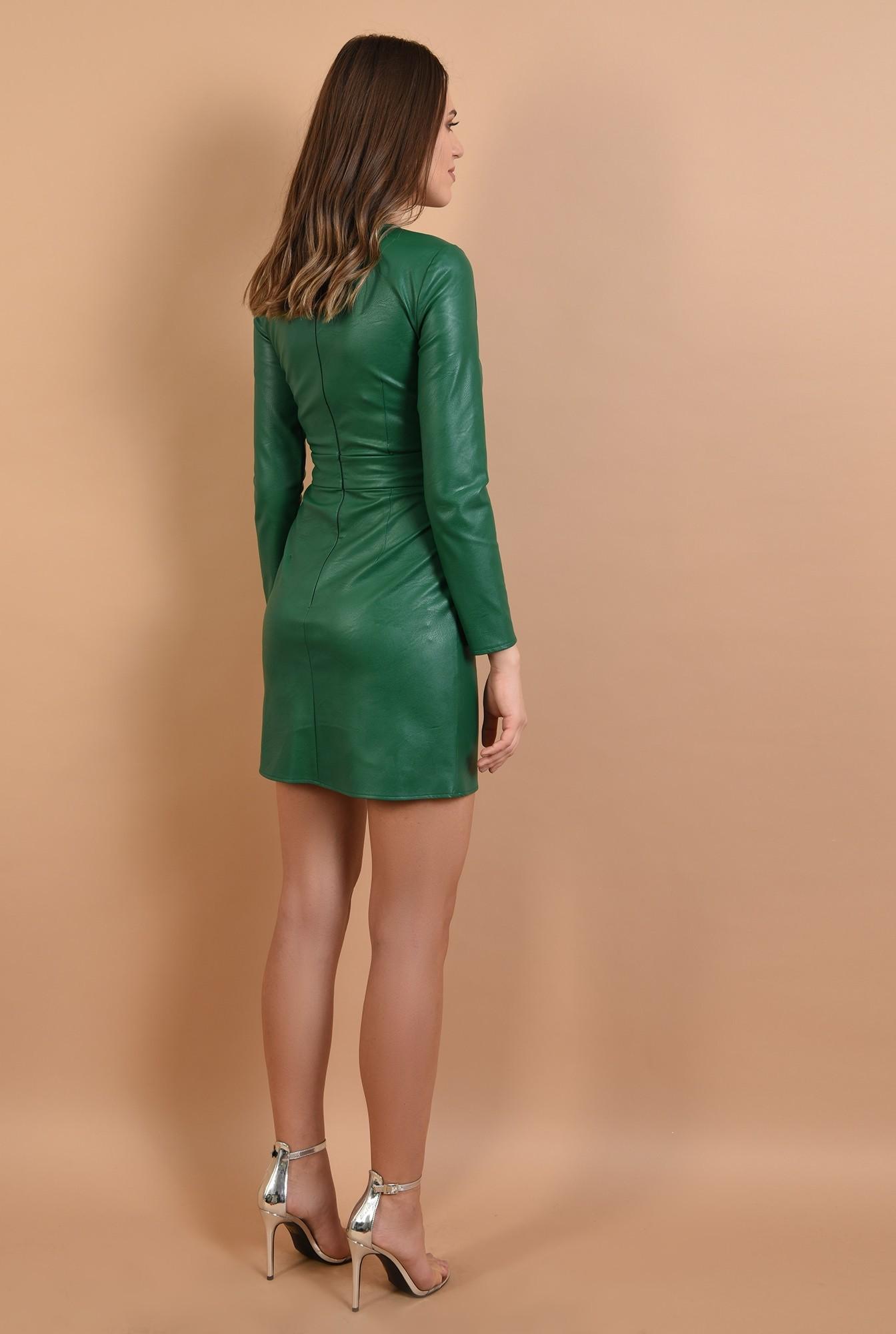 1 -  rochie eleganta, din piele, mini, cambrata, Poema