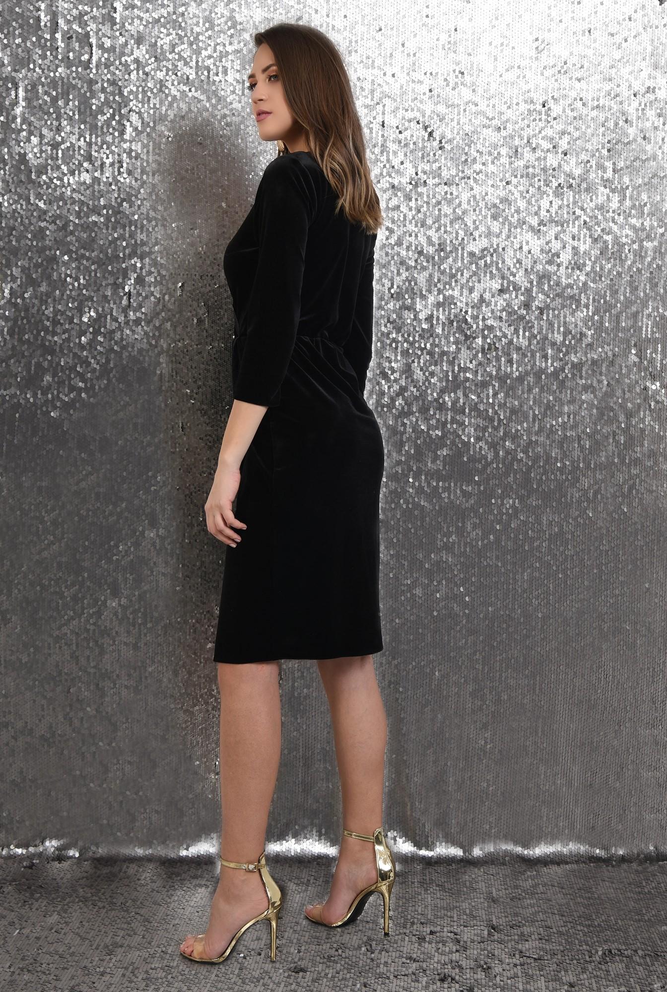 1 - rochie eleganta, conica, petrecuta, din catifea, cu dantela
