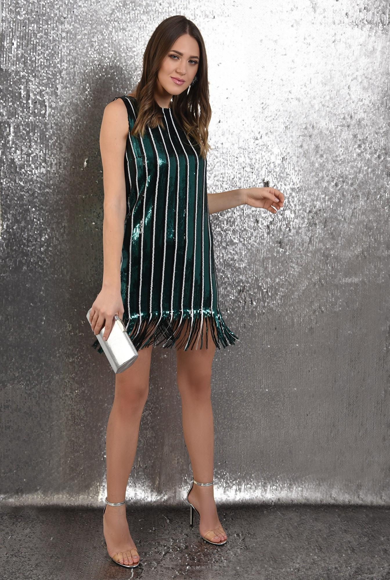 3 -  rochie scurta, Poema, cu paiete, dreapta, cu franjuri, rochie de ocazie
