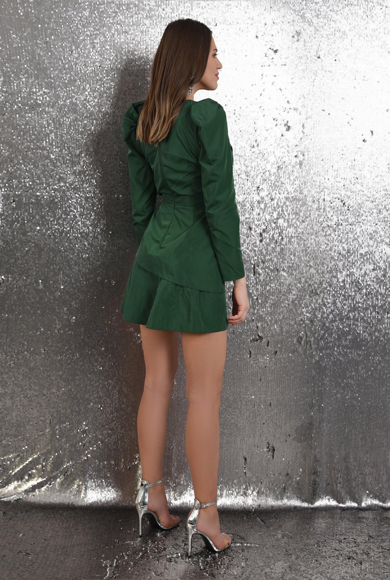 1 - 360 - rochie eleganta, petrecuta, cu pliuri decorative, maneci lungi, Poema