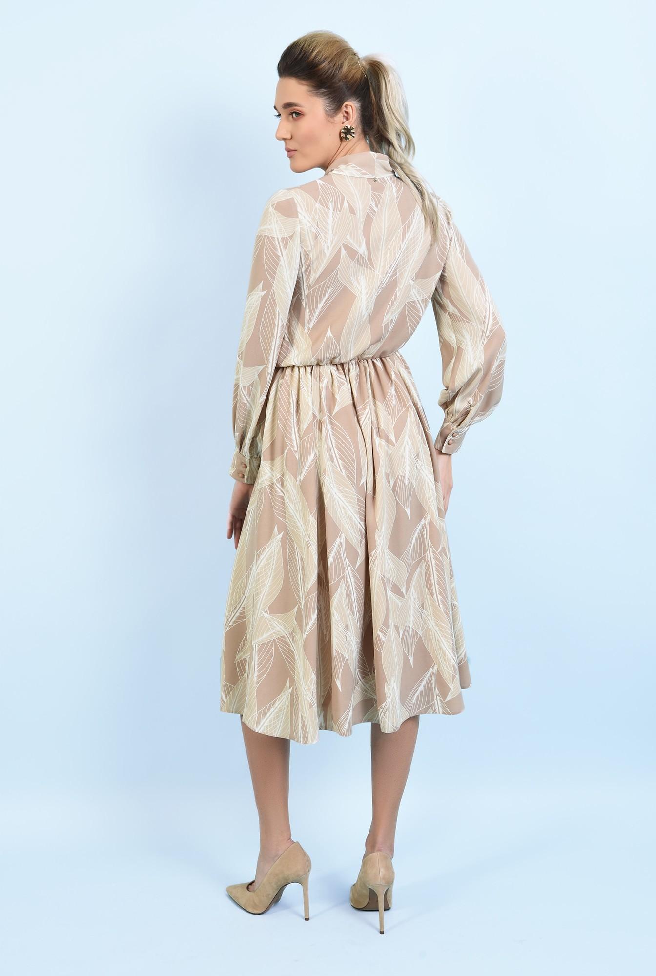 1 - 360 - rochie midi, clos, cu imprimeu, funda, rochie de primavara