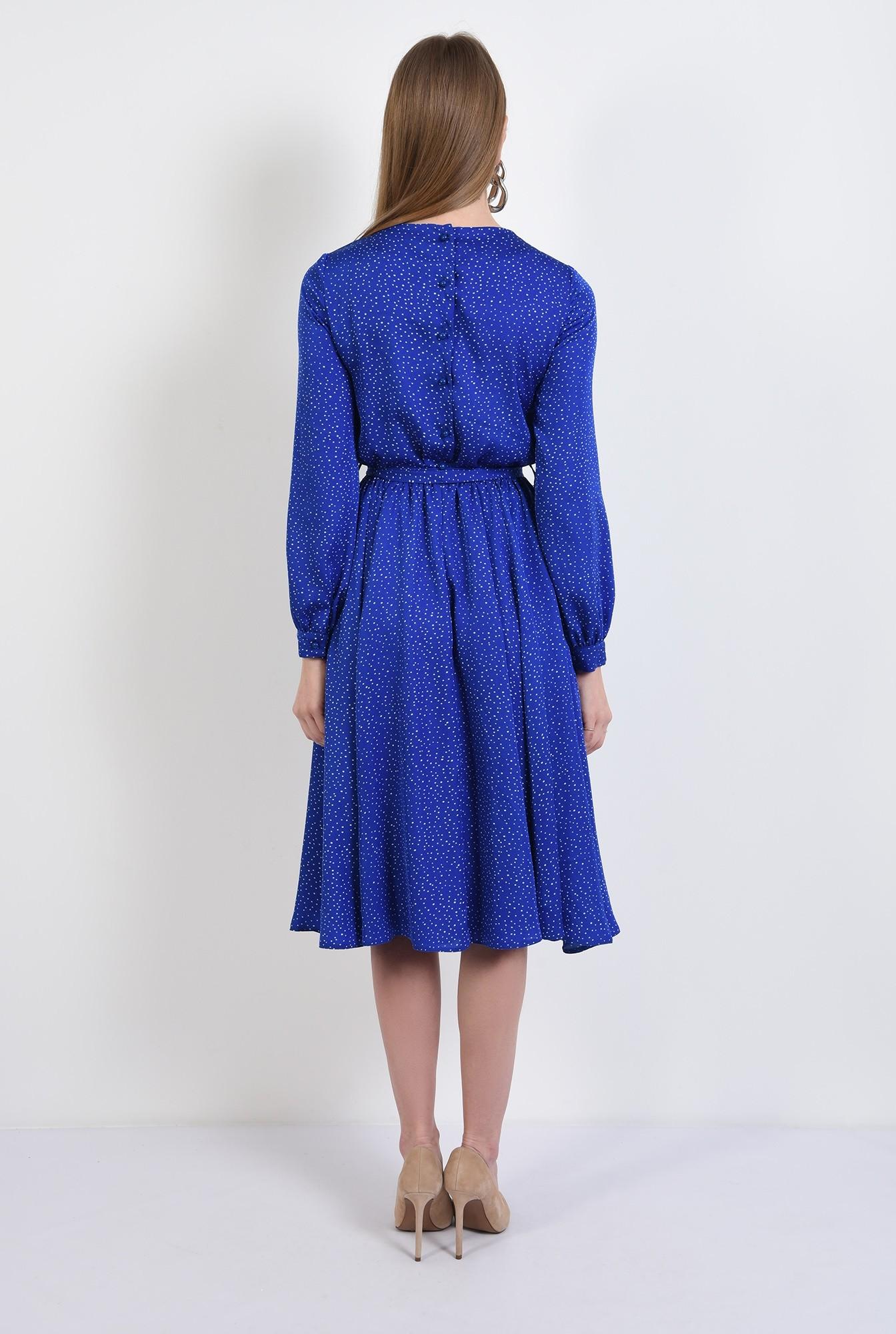 1 - 360 - rochie midi, clos, cu buline, cu nasturi la spate, rochie de primavara