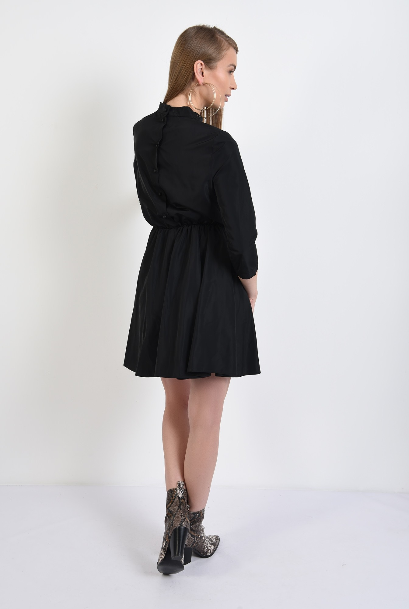 1 - rochie de primavara, mini, clos, guler, nasturi la spate, Poema
