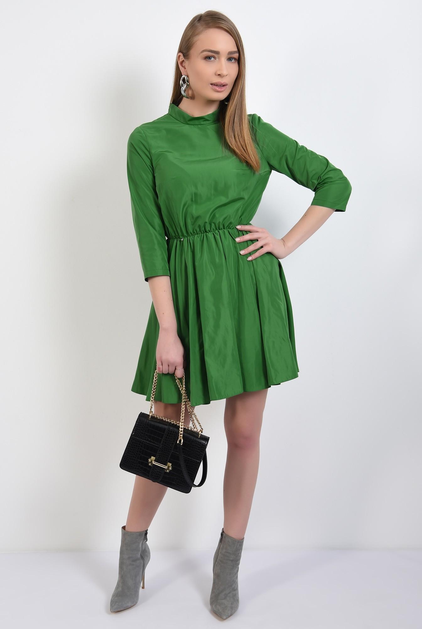 3 -  rochie mini, clos, maneci midi, guler mic, rochie de primavara, nasturi pe spate