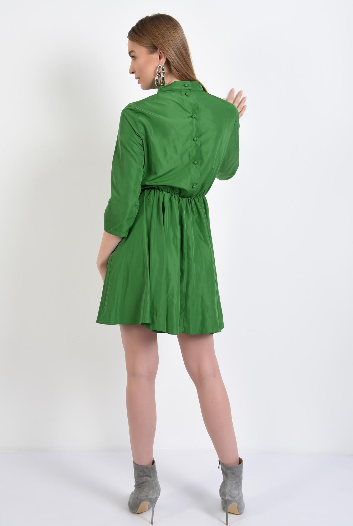 1 -  rochie mini, clos, maneci midi, guler mic, rochie de primavara, nasturi pe spate