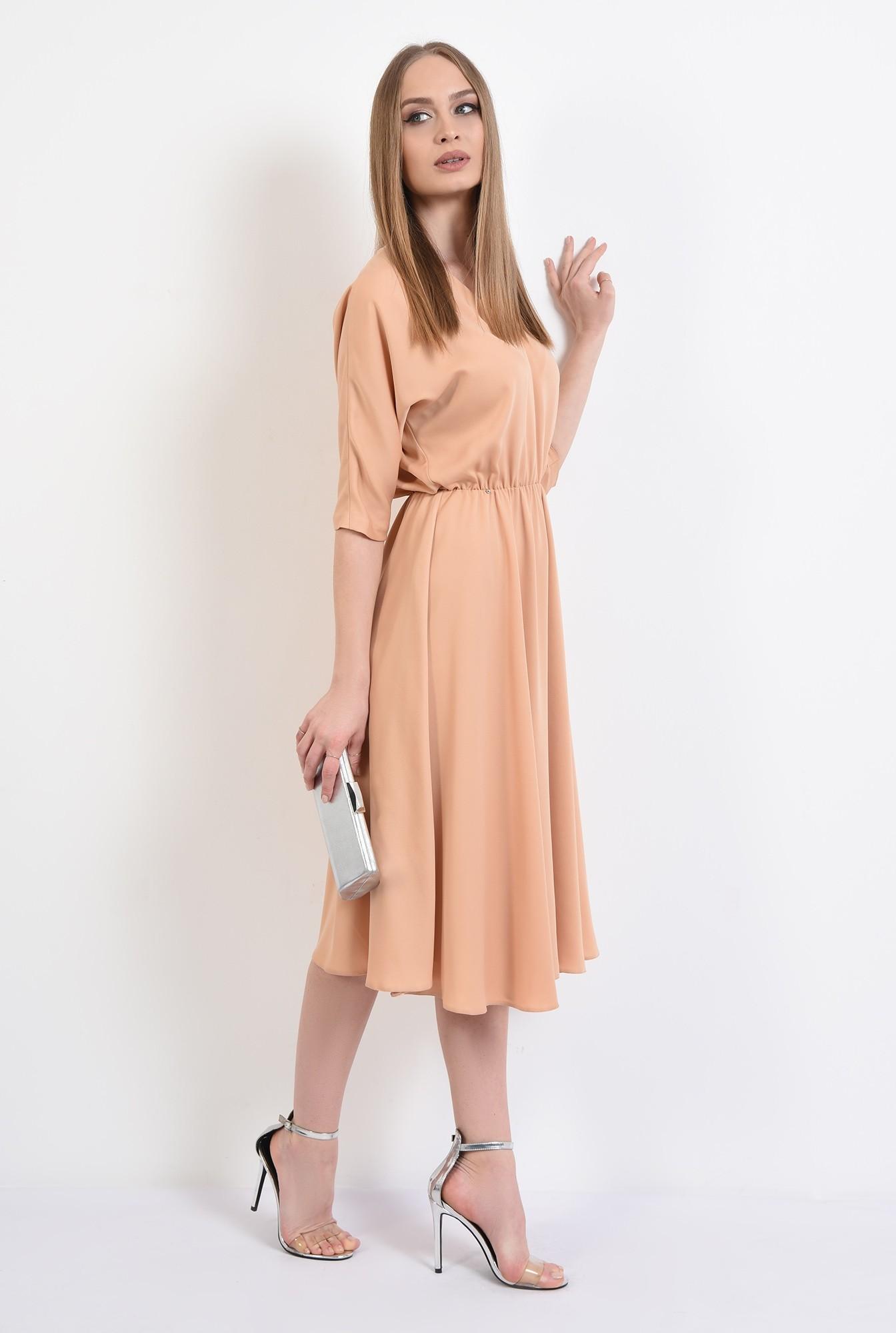 3 -  rochie eleganta, evazata, maneci liliac, croi clos, cu anchior, Poema