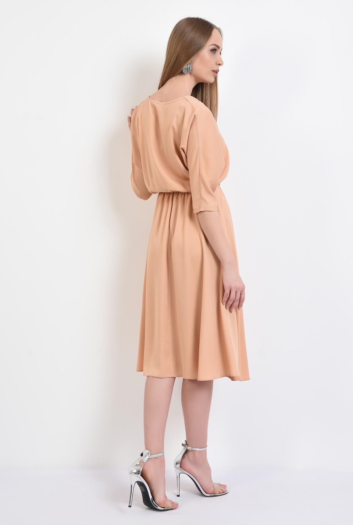 1 -  rochie eleganta, evazata, maneci liliac, croi clos, cu anchior, Poema