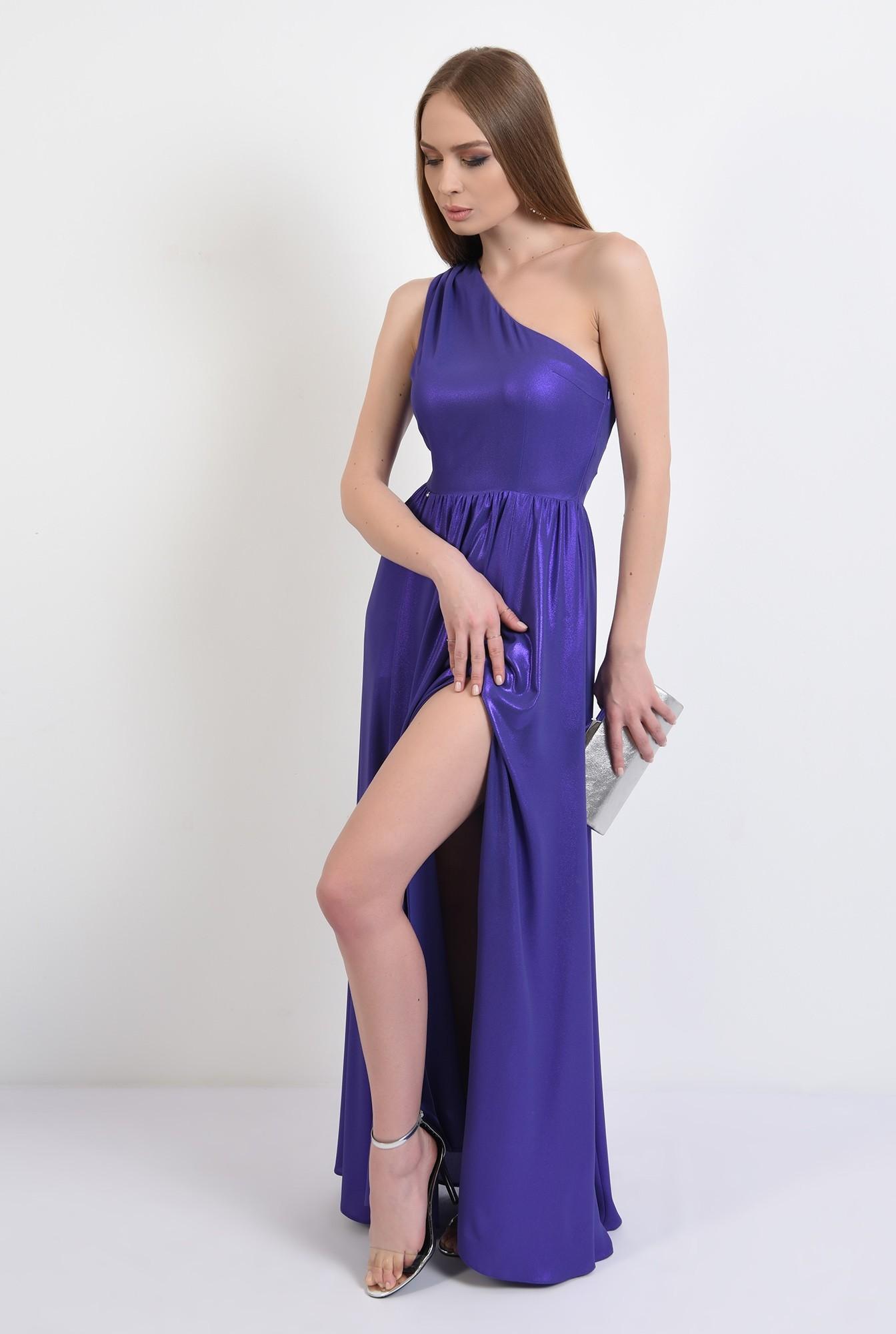 0 - 360 - rochie eleganta, cu crapeu, lunga, umar gol, pliuri la umar, Poema