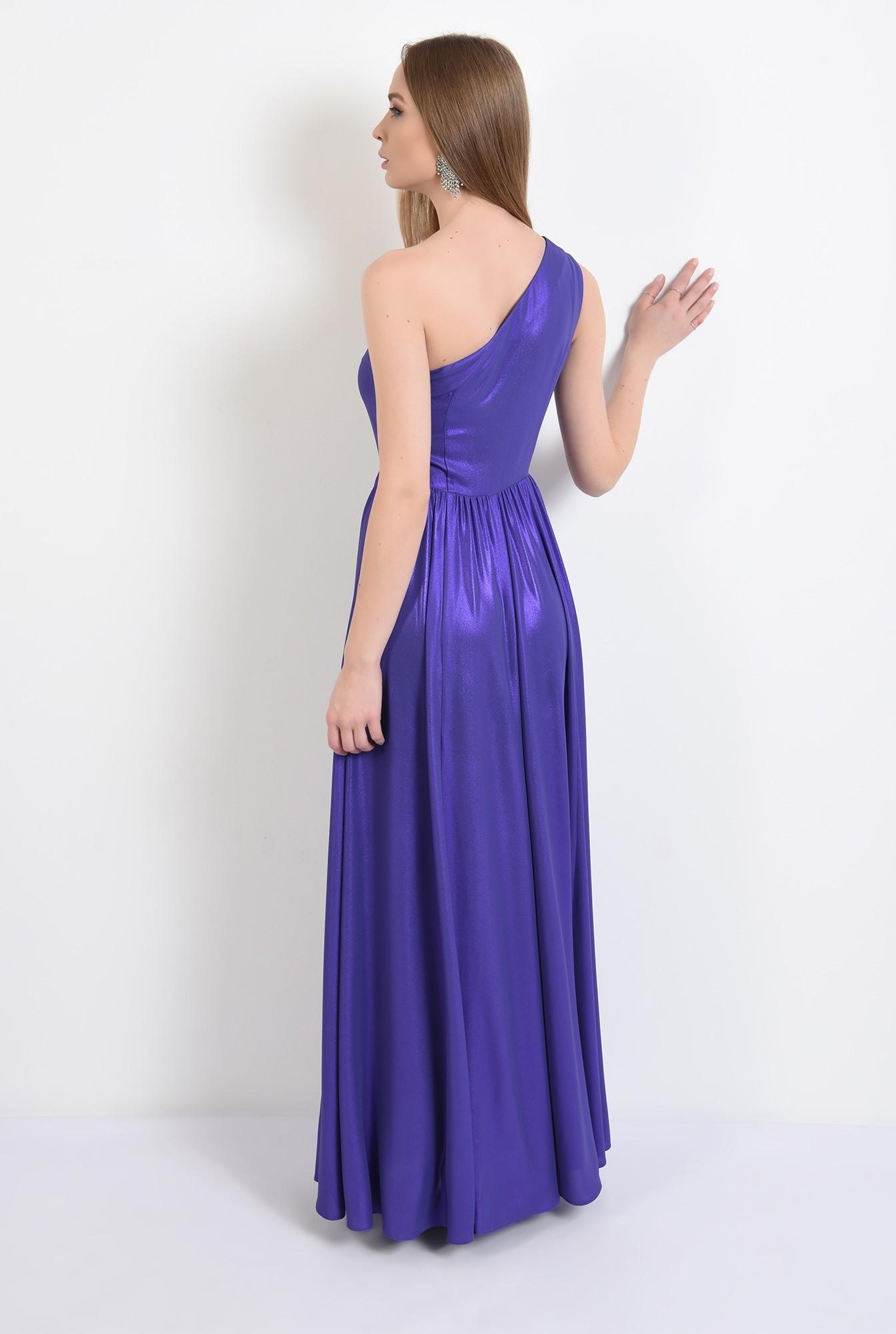 1 - 360 - rochie eleganta, cu crapeu, lunga, umar gol, pliuri la umar, Poema