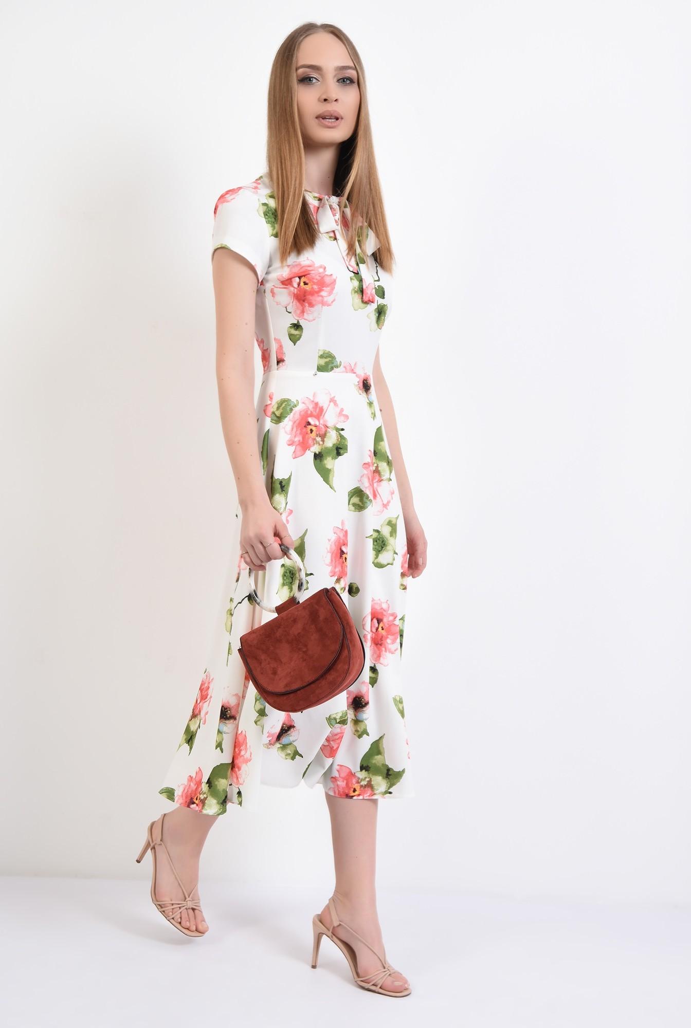 0 - 360 - rochie casual, midi,cu flori, Poema