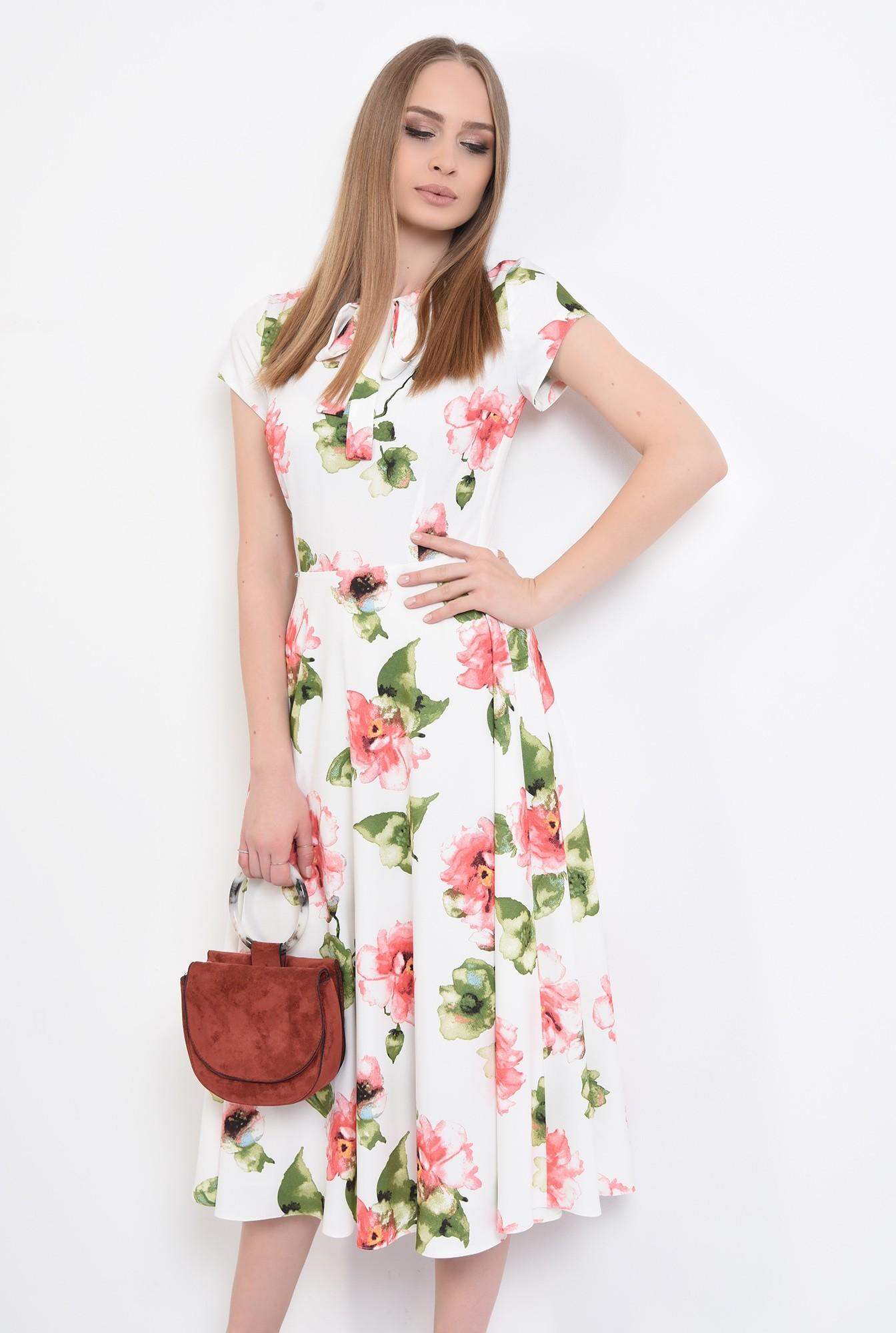 3 - 360 - rochie casual, midi,cu flori, Poema