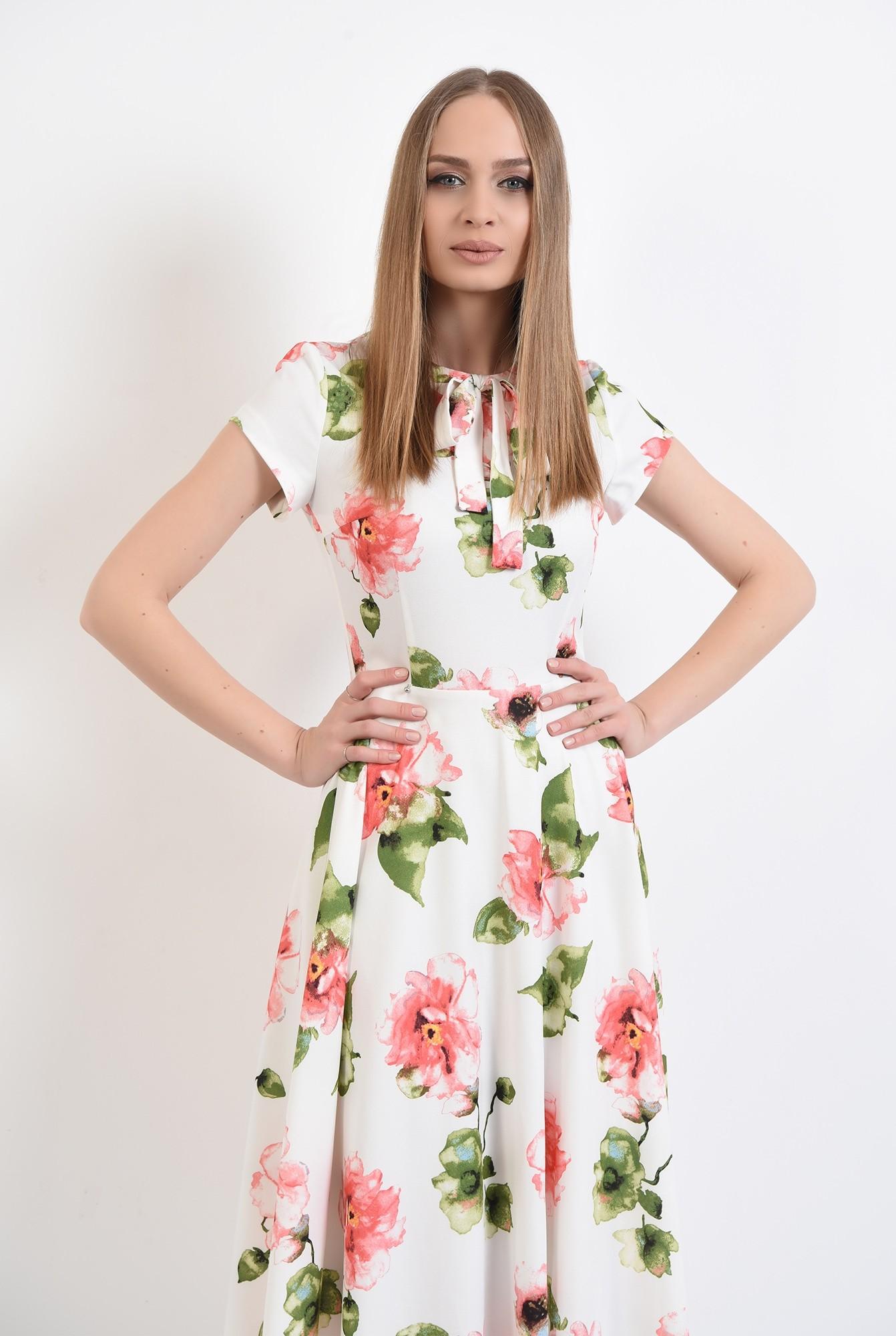 2 - 360 - rochie casual, midi,cu flori, Poema