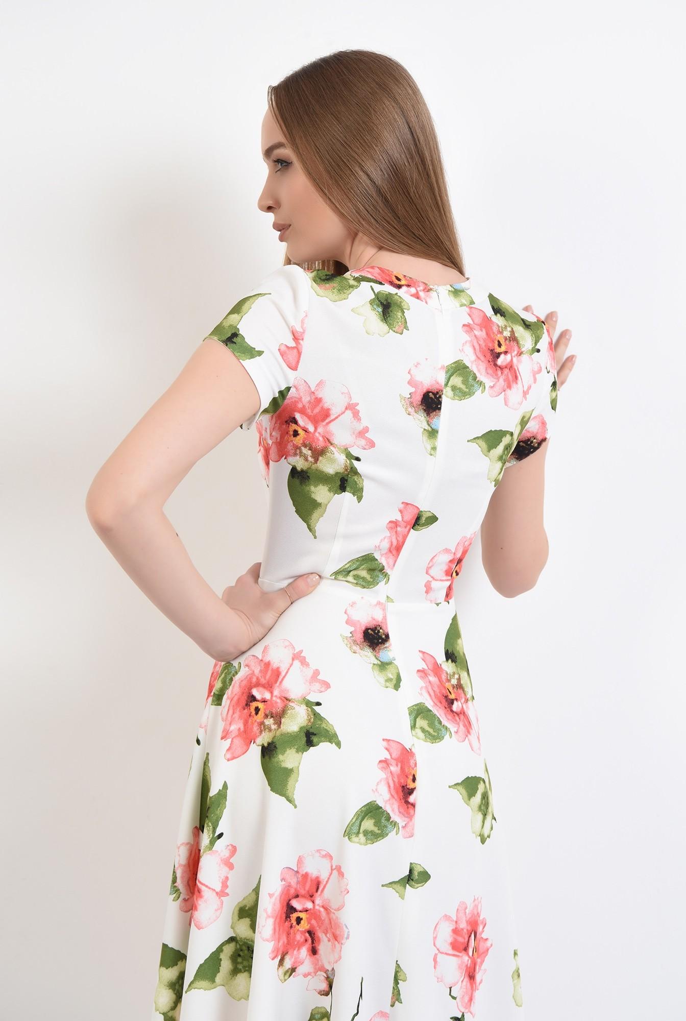 1 - 360 - rochie casual, midi,cu flori, Poema