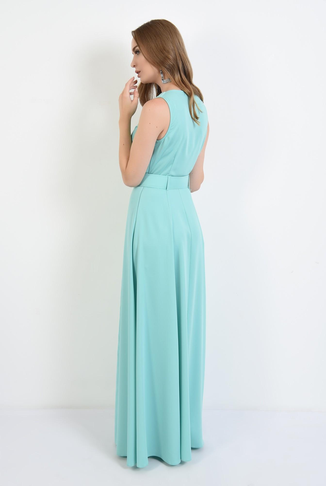 1 - 360 - rochie poema,lunga, eleganta, cu centura