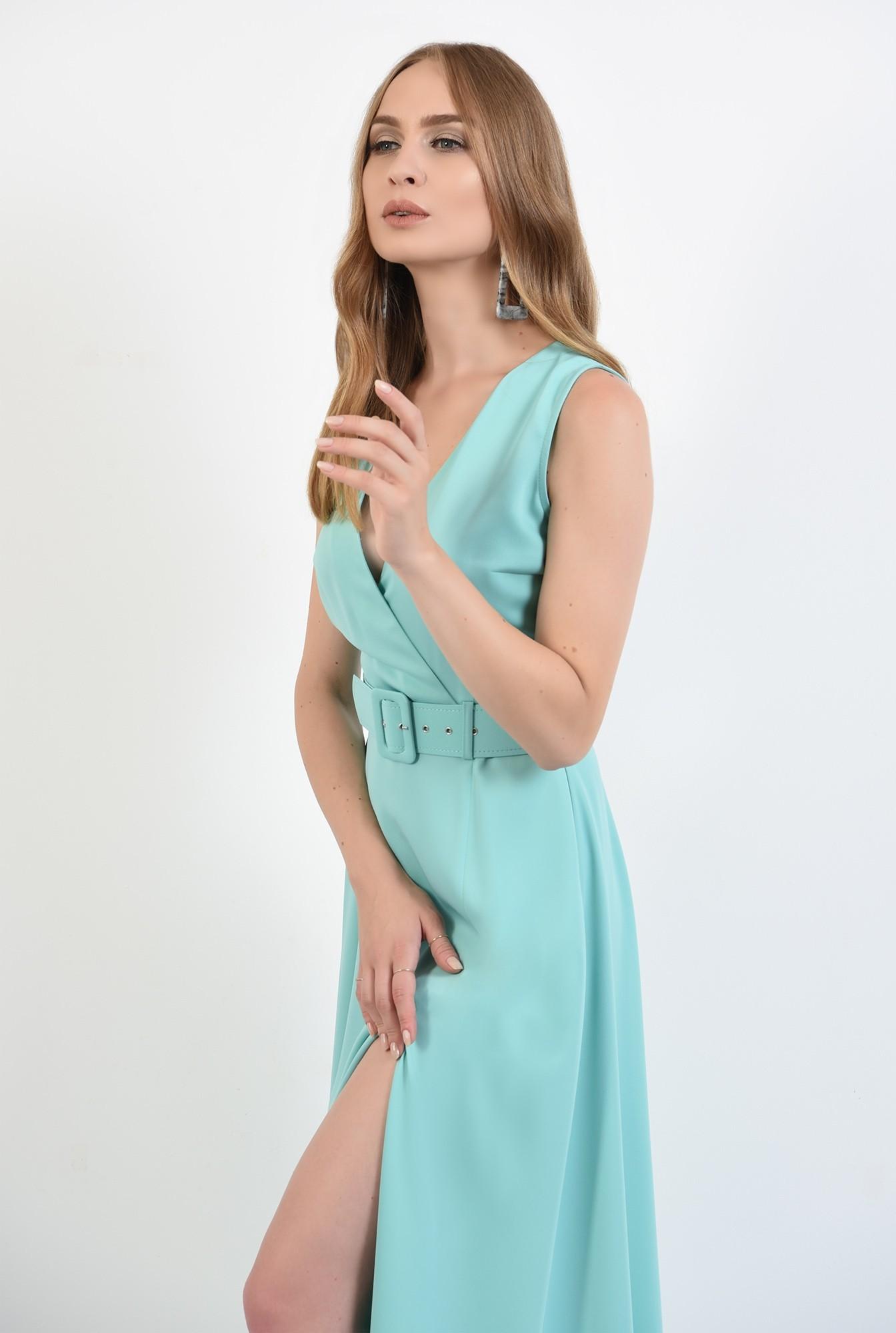 0 - 360 - rochie poema,lunga, eleganta, cu centura