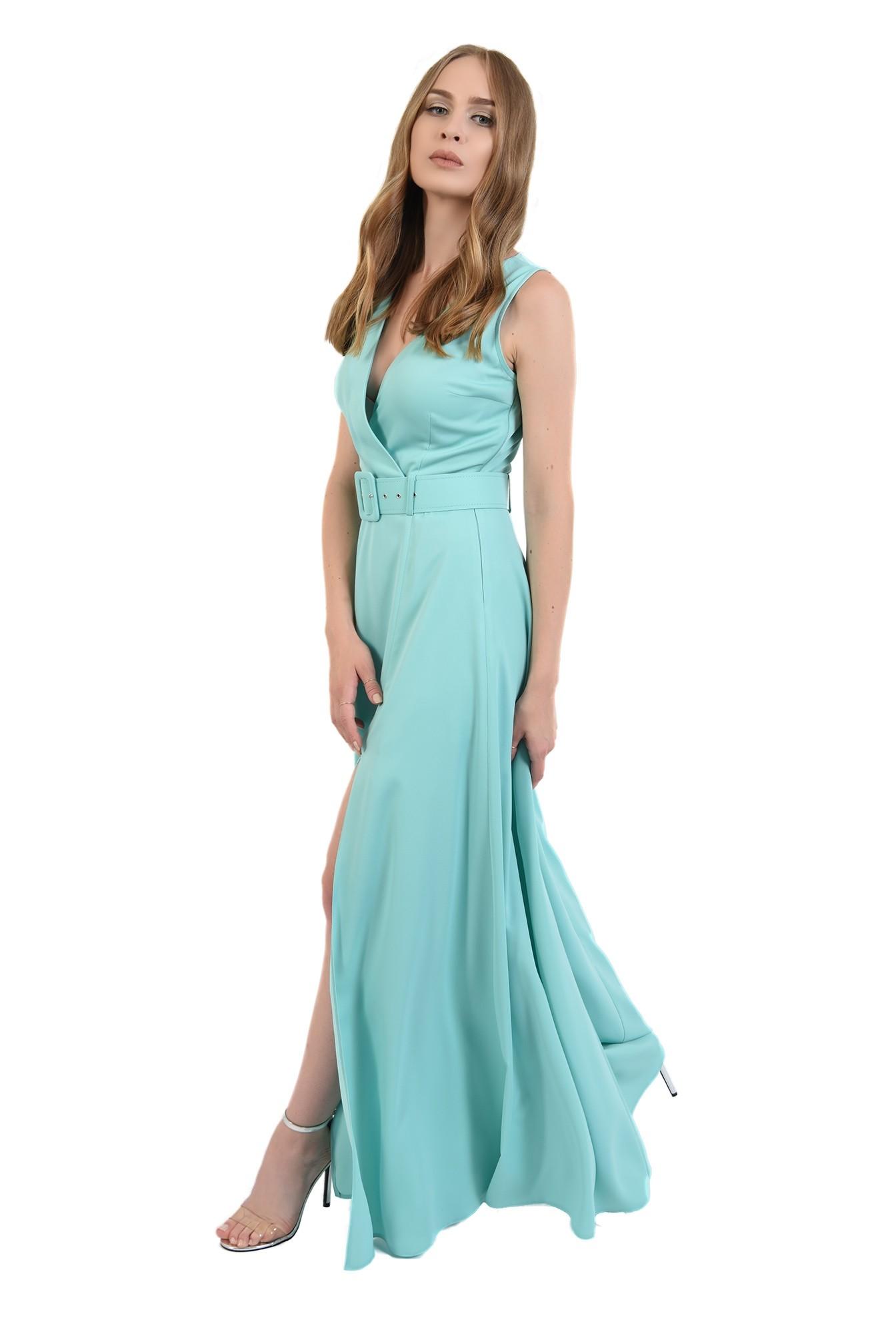 3 - 360 - rochie poema,lunga, eleganta, cu centura