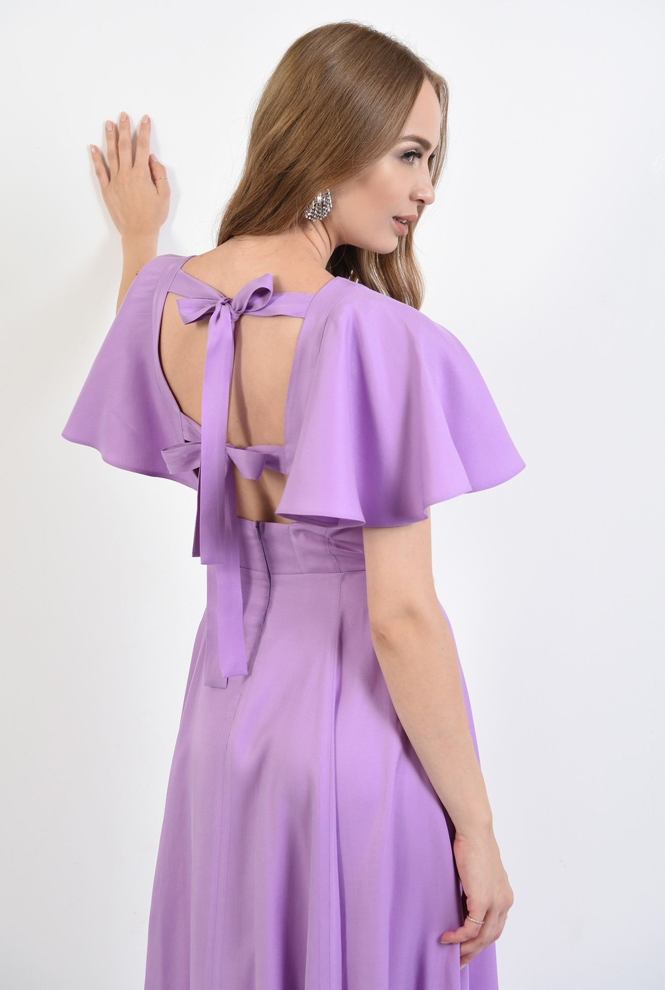 1 - 360 - rochie eleganta, midi, lila, Poema