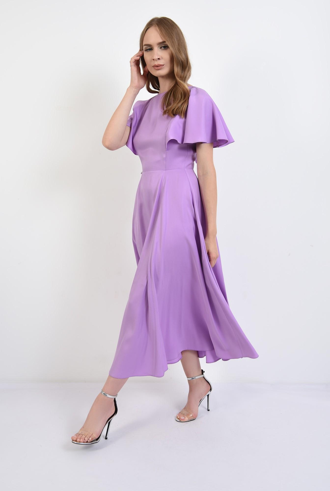 0 - 360 - rochie eleganta, midi, lila, Poema
