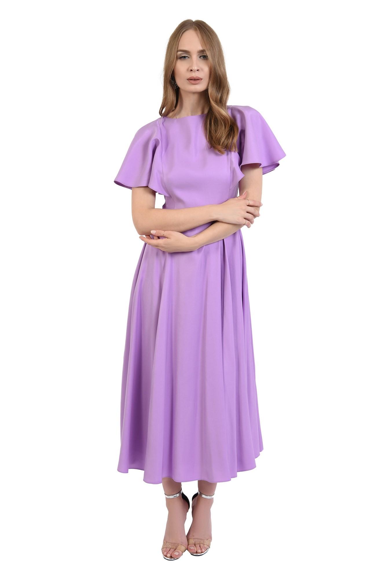 3 - 360 - rochie eleganta, midi, lila, Poema