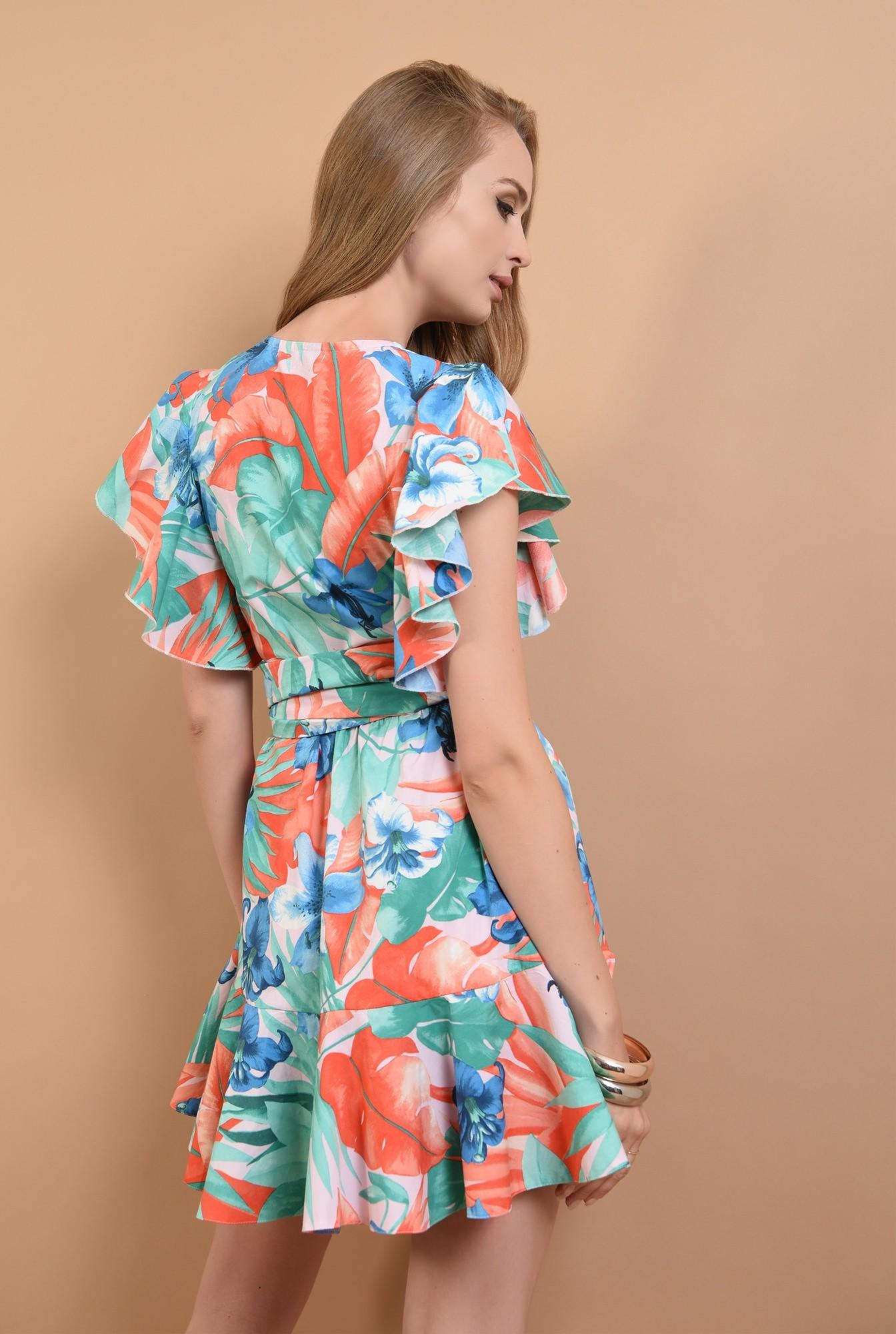 1 - 360 - rochie scurta, cu print, din bumbac, Poema