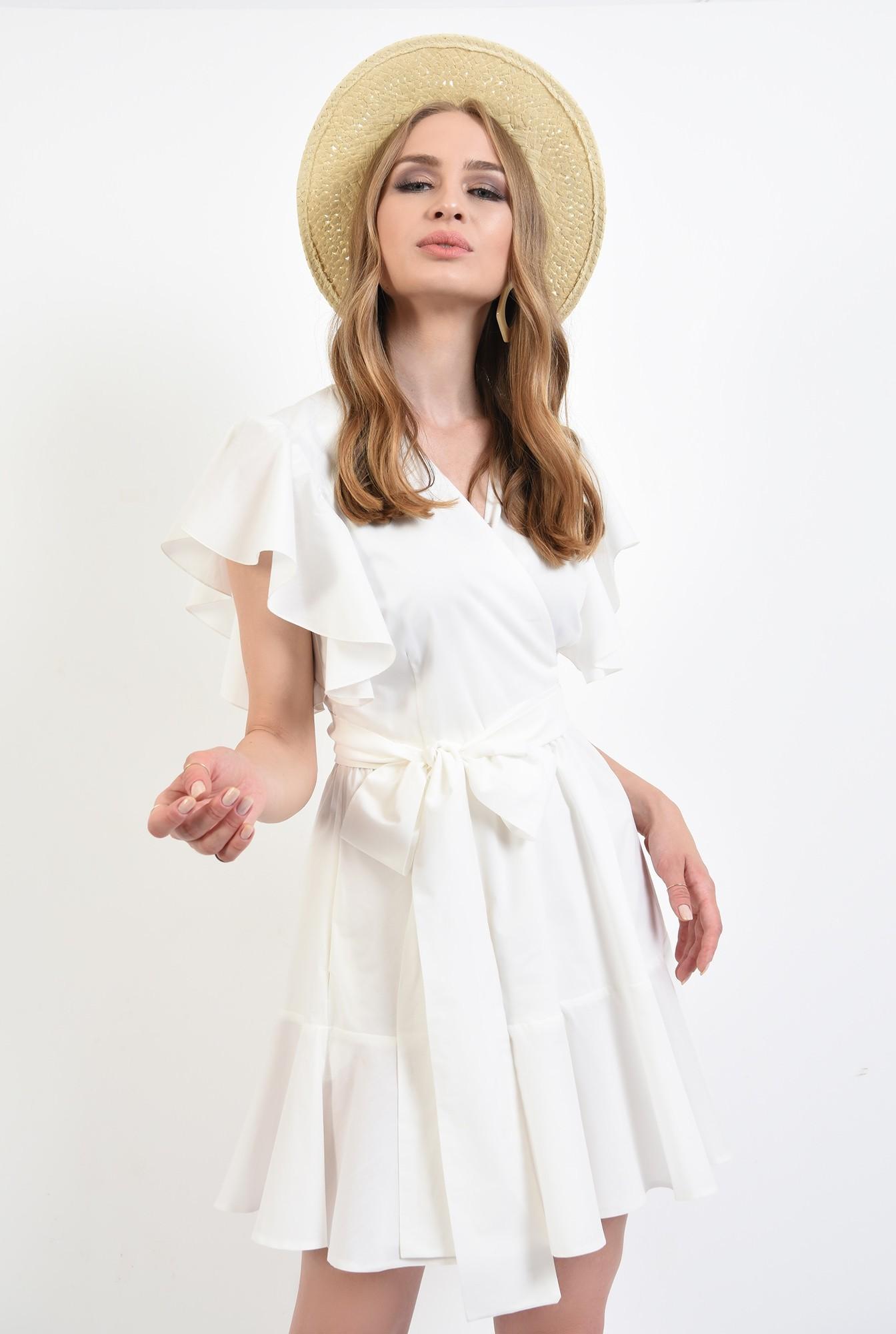 0 - 360 - rochie scurta, de vara, cu maneci volan, Poema