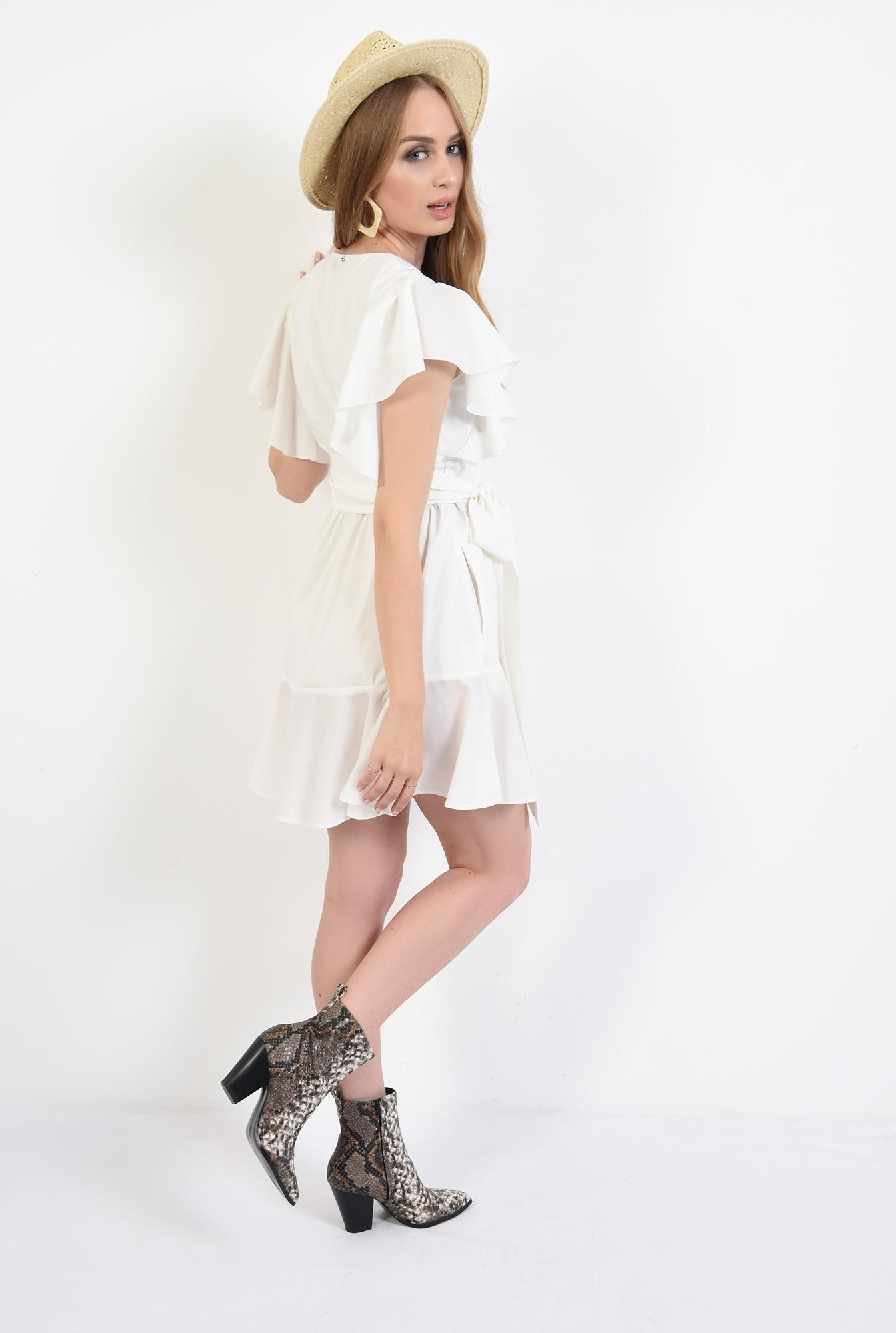 1 - 360 - rochie scurta, de vara, cu maneci volan, Poema