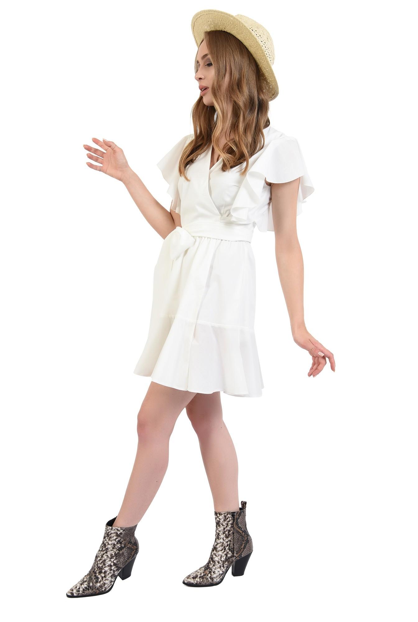 3 - 360 - rochie scurta, de vara, cu maneci volan, Poema