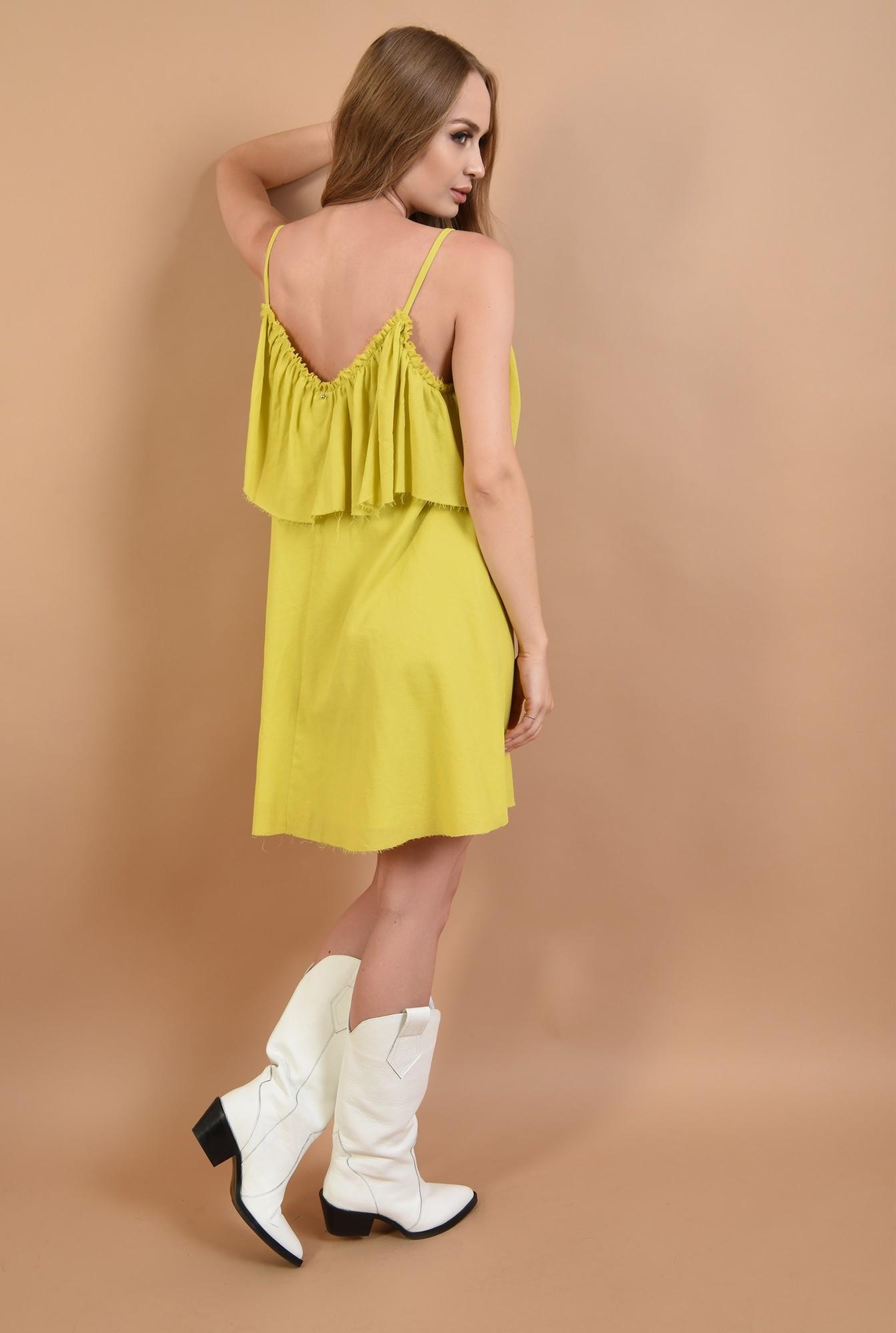 1 - 360 - rochie lime,de vara, cu volan, Poema