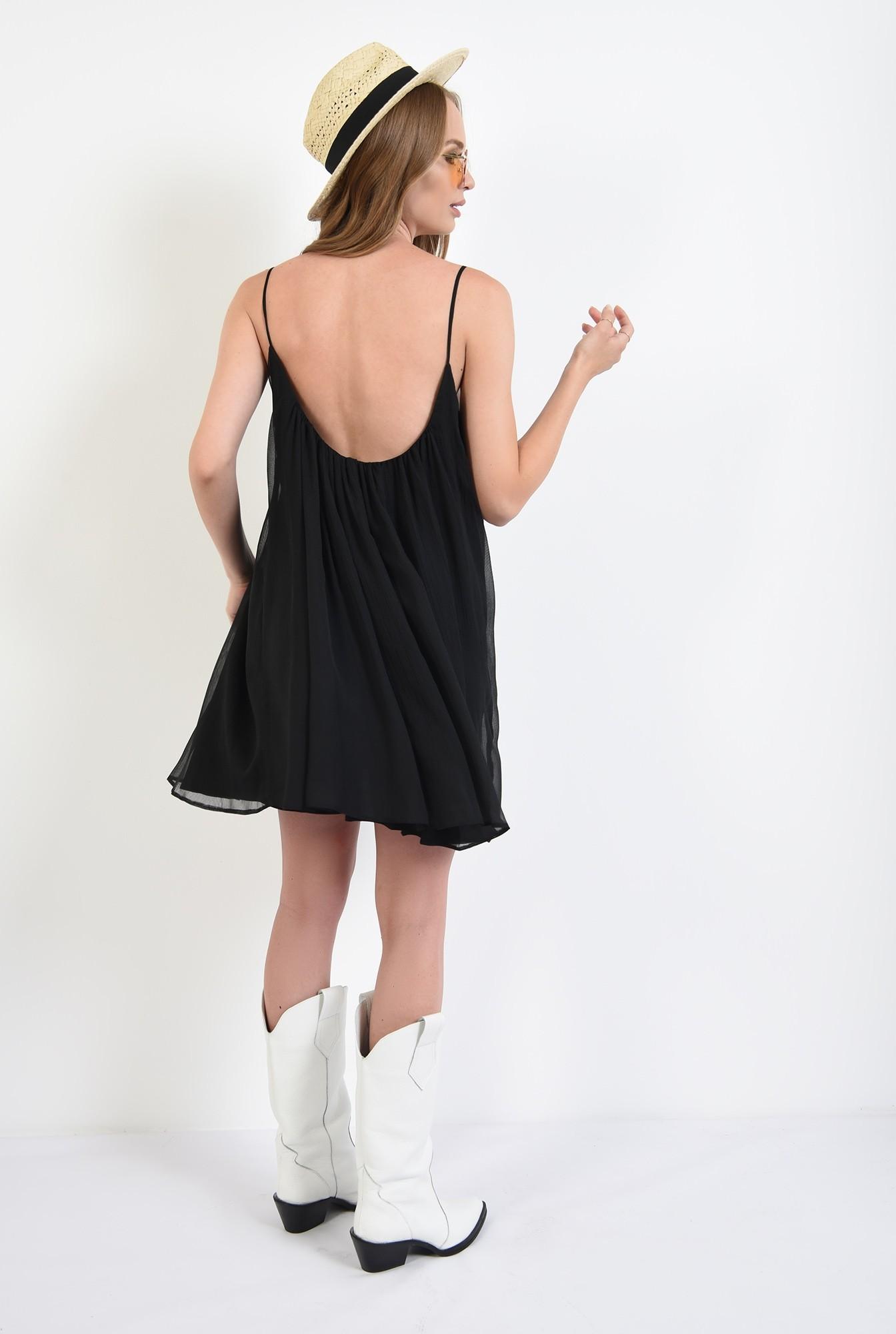 1 - rochie larga, tip furou, neagra, Poema