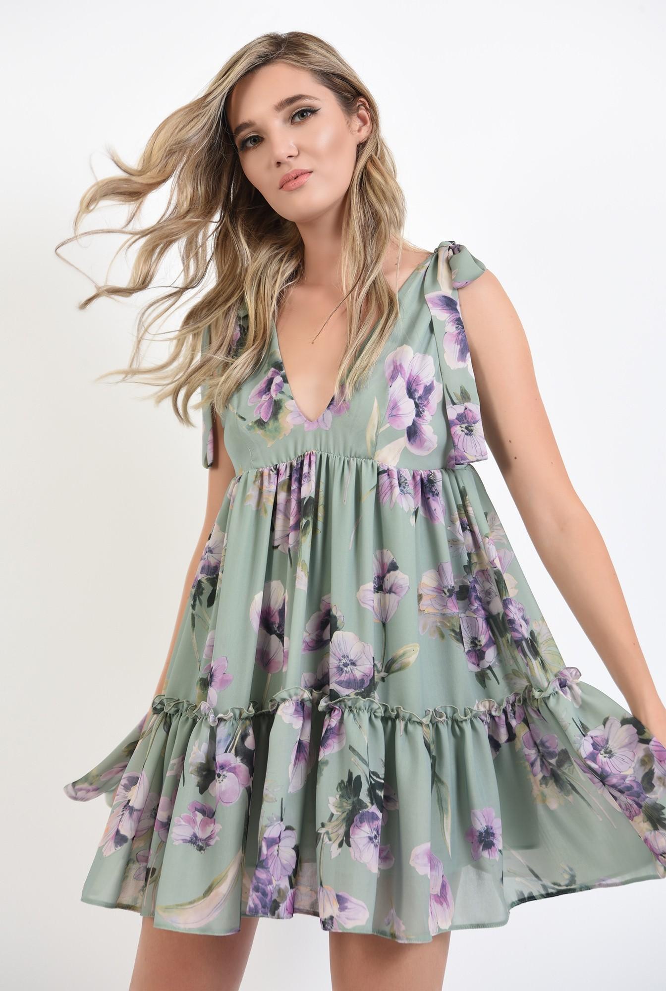 2 - 360 - rochie mini, larga, cu flori, Poema