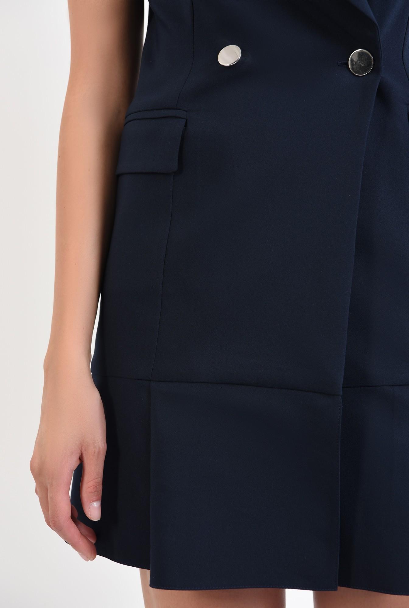 2 - 360 - rochie bleumarin, scurta, tip sacou, Poema