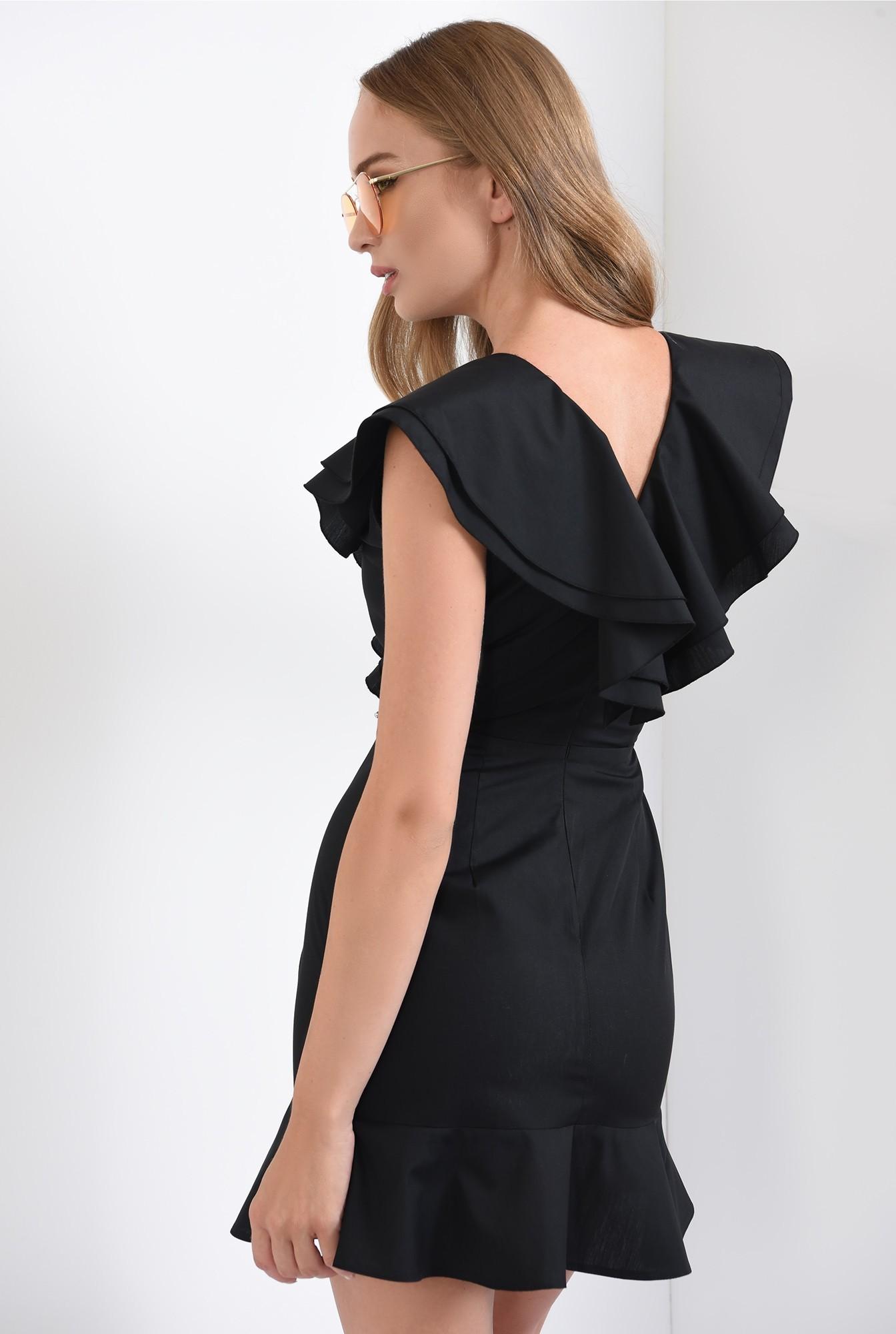 1 -  rochie mini, clos, cu volane, neagra, Poema