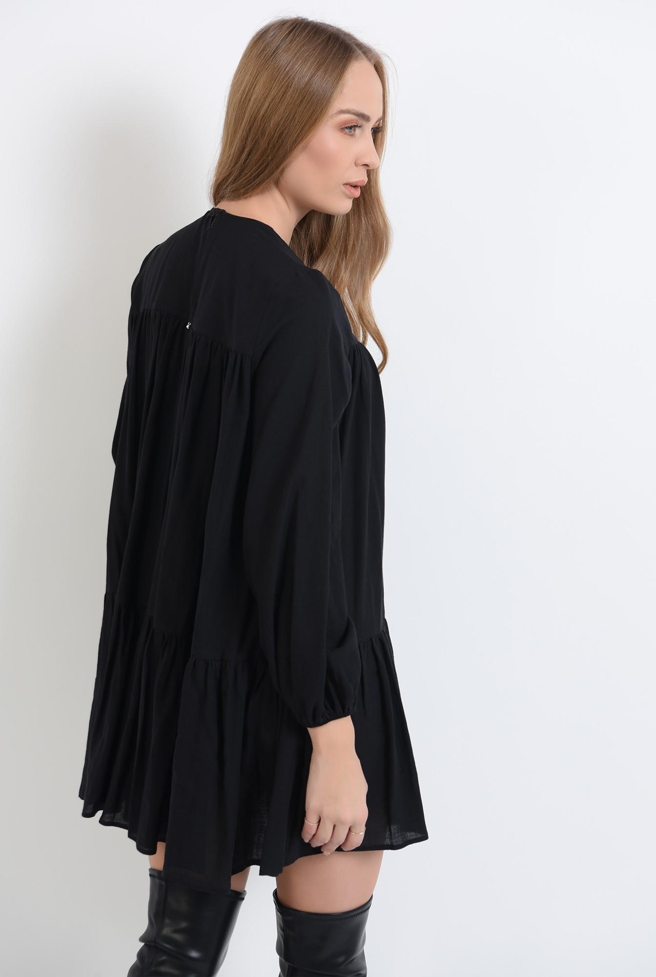 1 - 360 - rochie neagra scurta,cu maneca lunga Poema