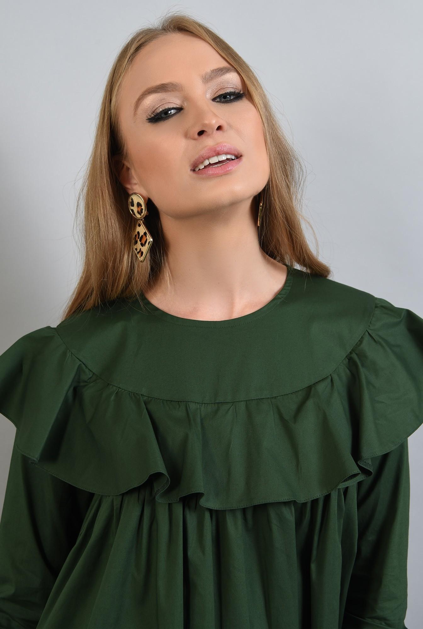 2 - rochie verde, dreapta, cu volan, Poema