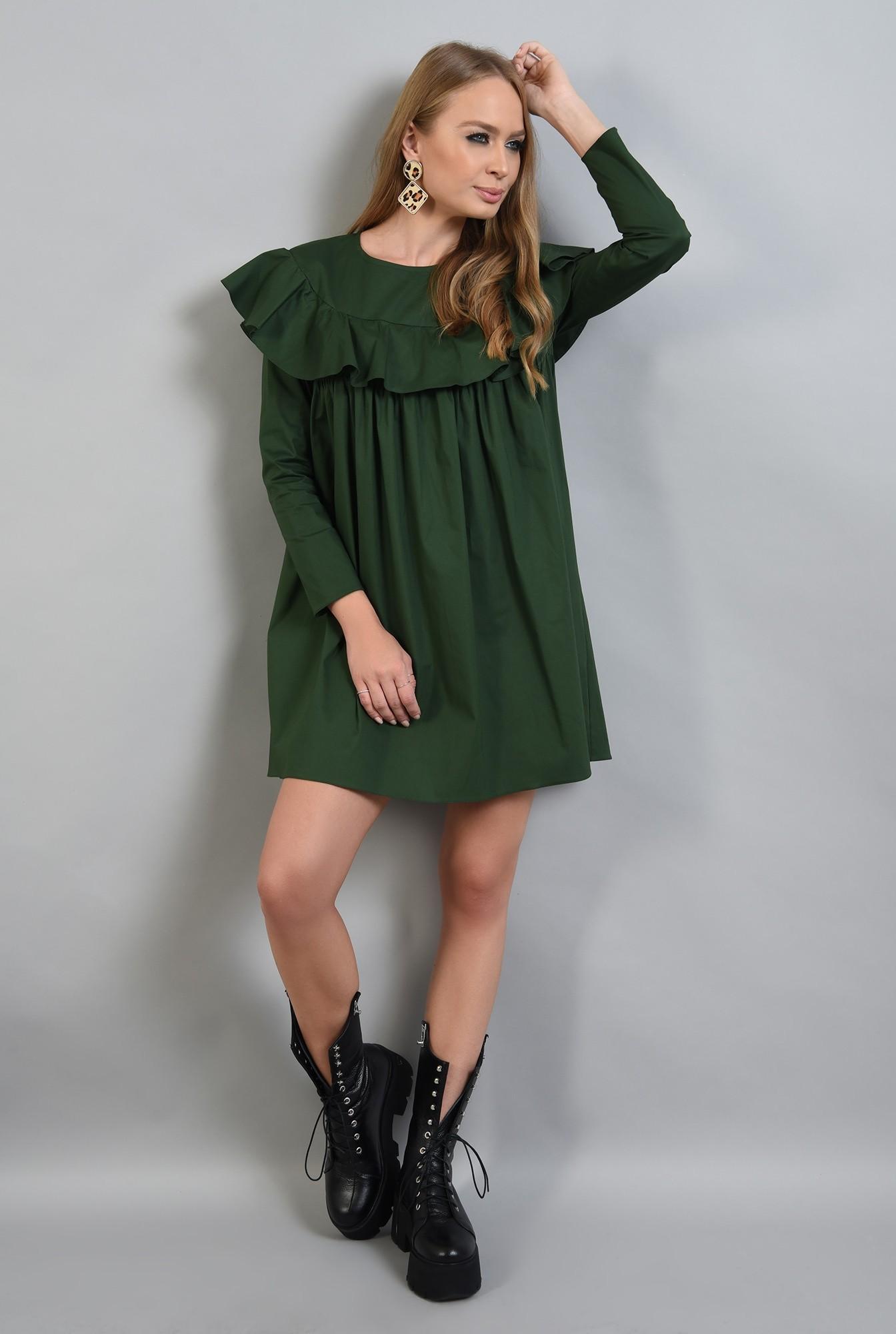 0 - rochie verde, dreapta, cu volan, Poema