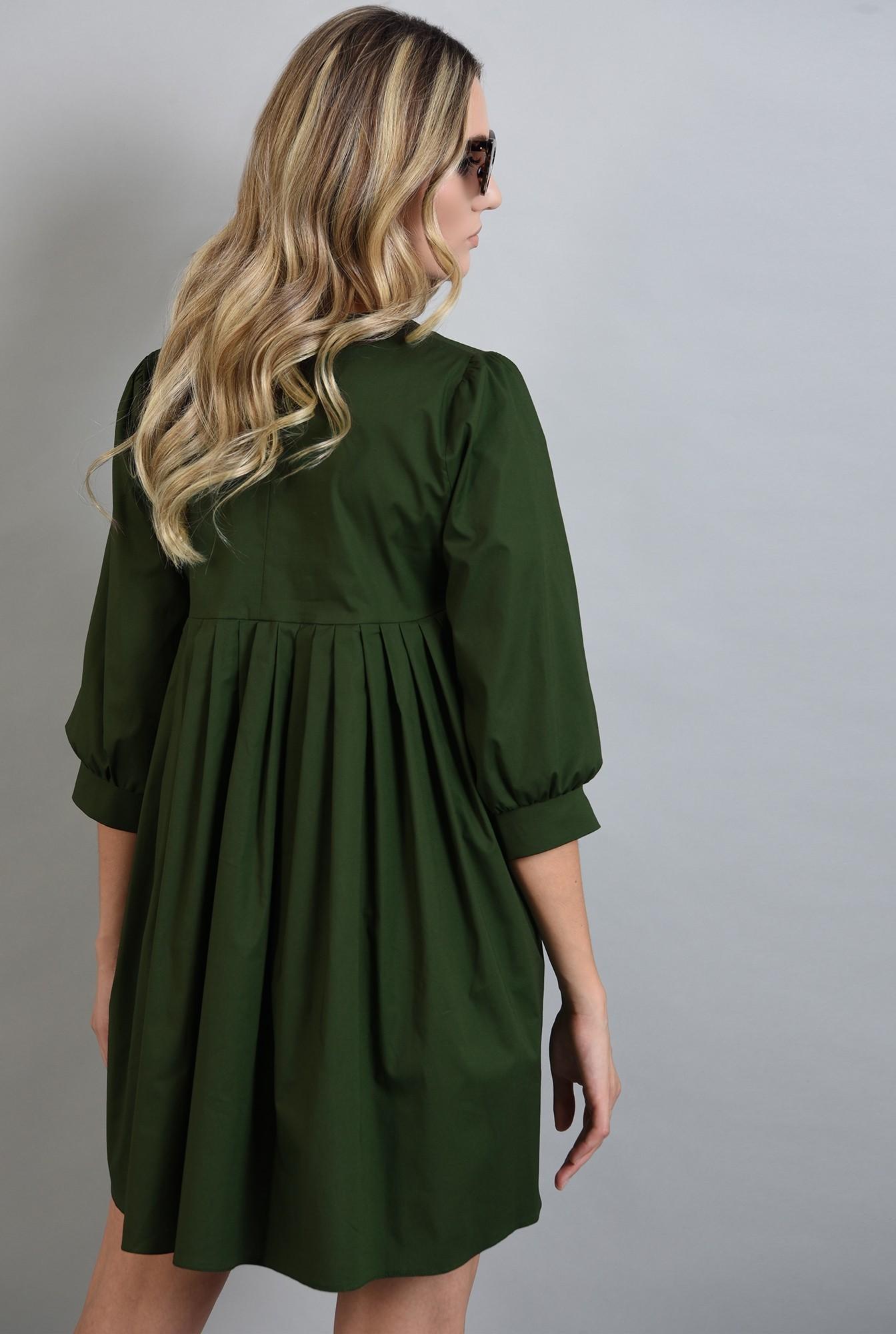 1 - rochie verde scurta, cu pliuri, Poema