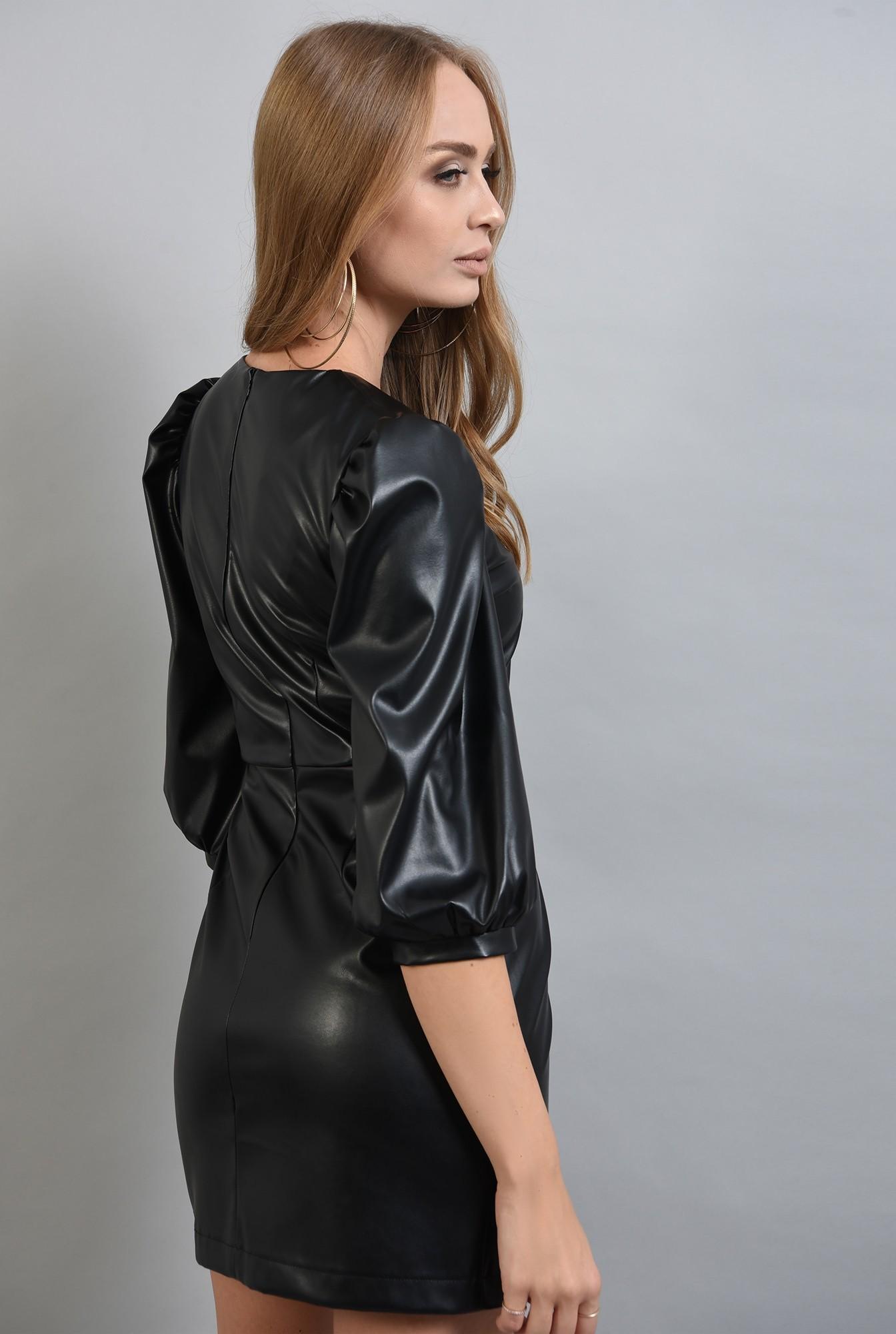 1 - rochie din piele eco, neagra, Poema