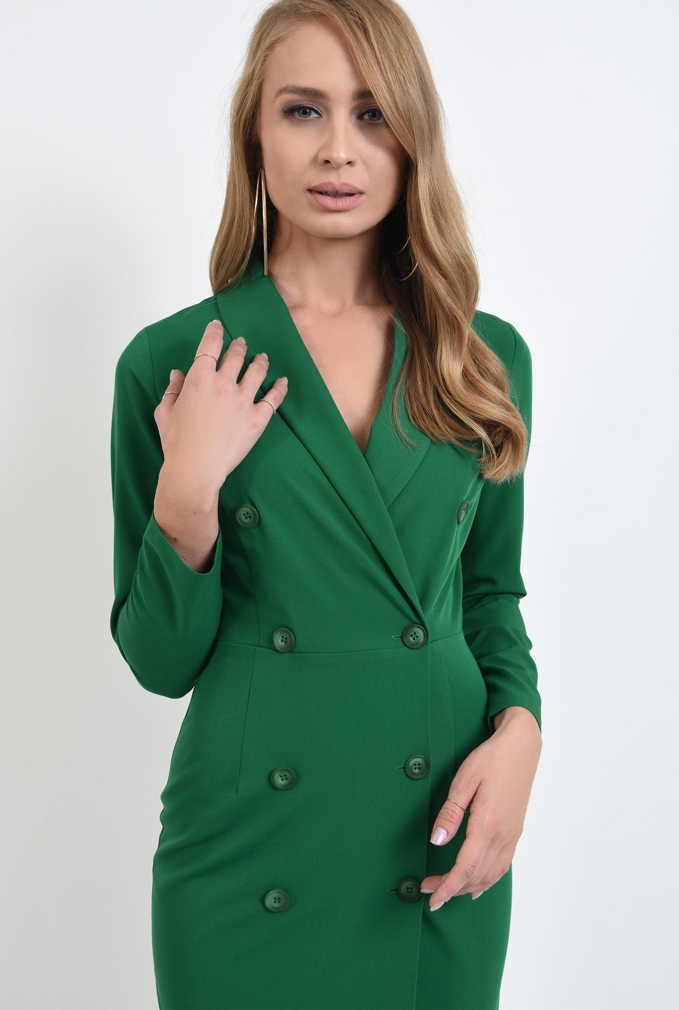 2 - 360 - rochie midi, verde, tip sacou
