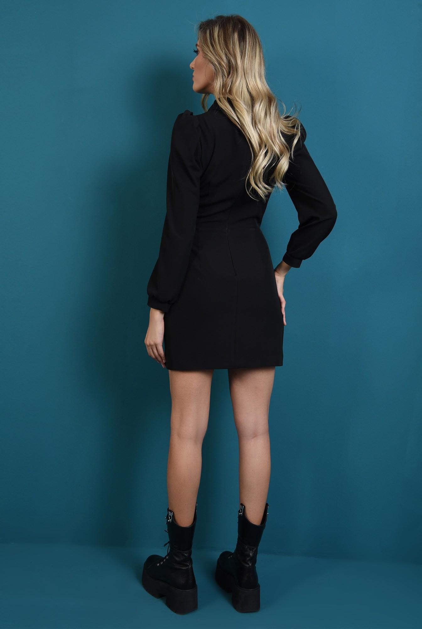 1 - rochie casual, dreapta, cu maneca lunga