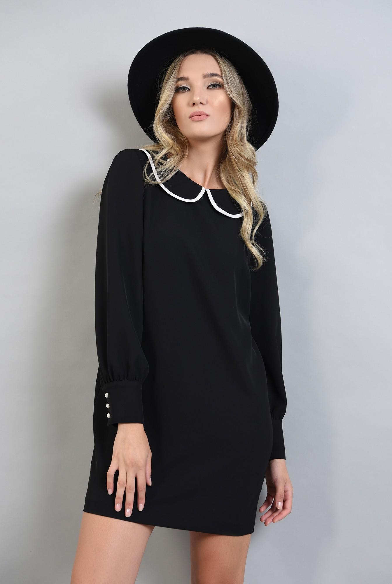 0 - rochie dreapta, casual, cu maneca lunga