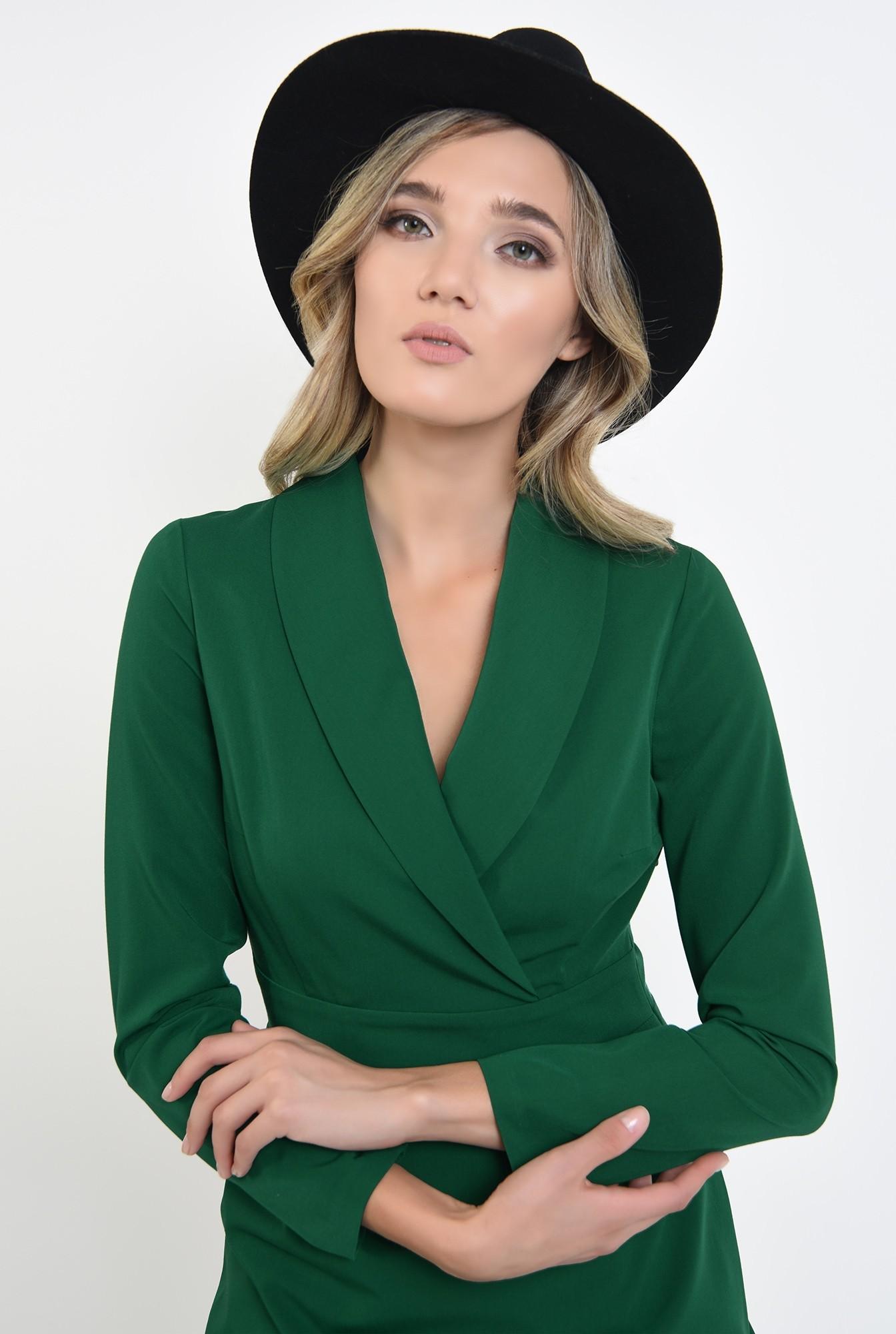 2 - rochie stil blazer, scurta, verde